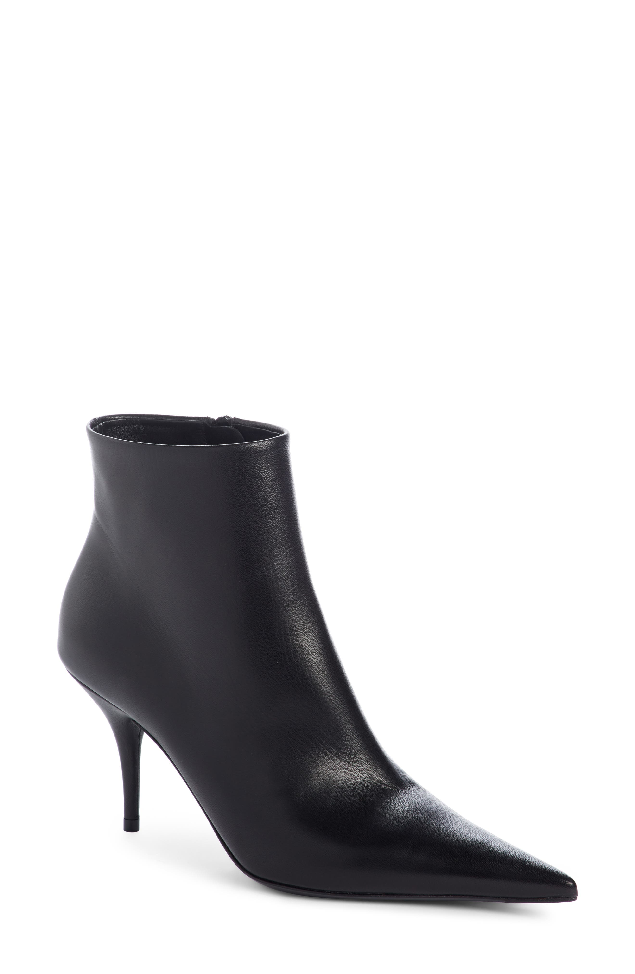Pointy Toe Bootie,                         Main,                         color, Black