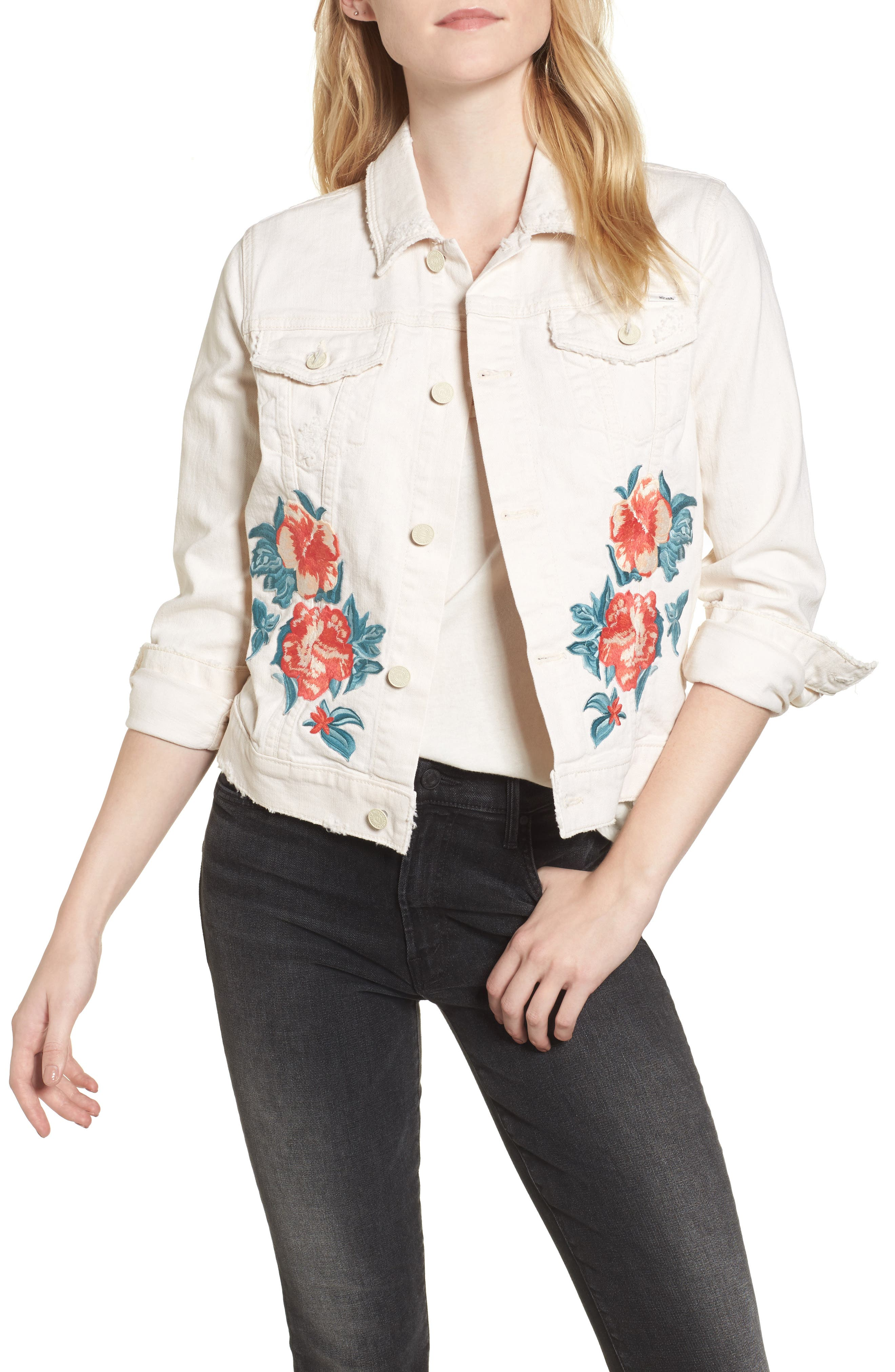 The Bruiser Cropped Denim Jacket,                         Main,                         color, Act Natural