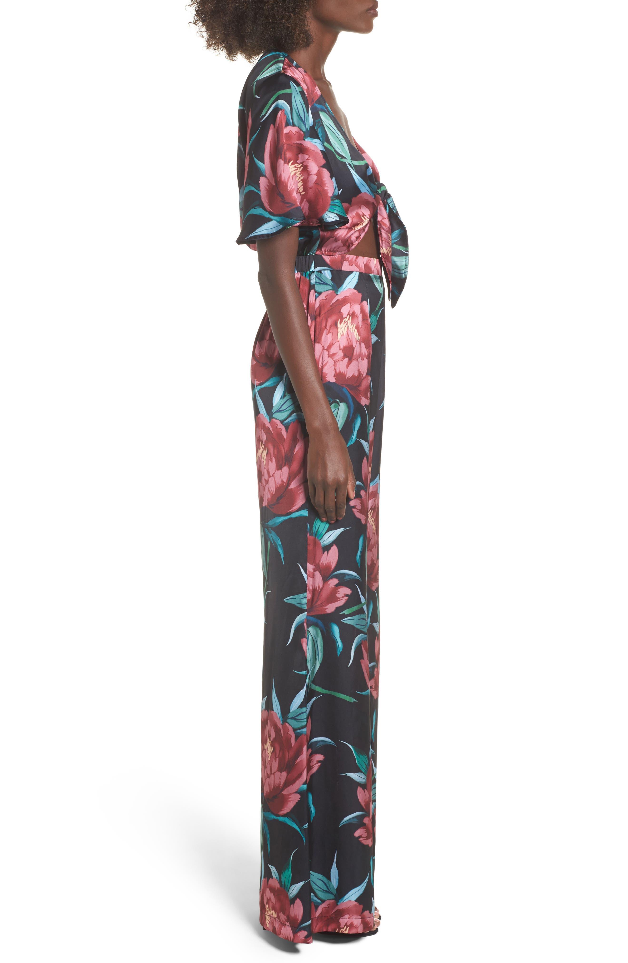 Alternate Image 3  - Show Me Your Mumu Jenna Tie Waist Jumpsuit