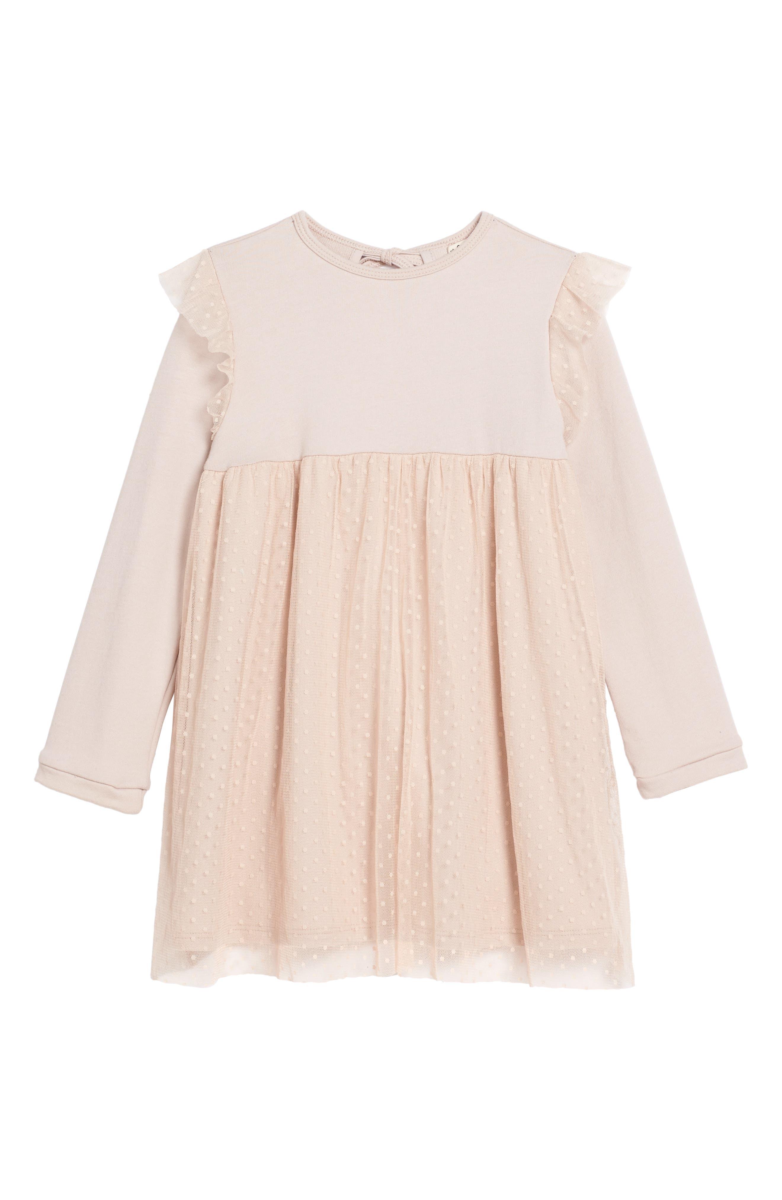 Ballerina Tulle Dress,                         Main,                         color, Misty Rose