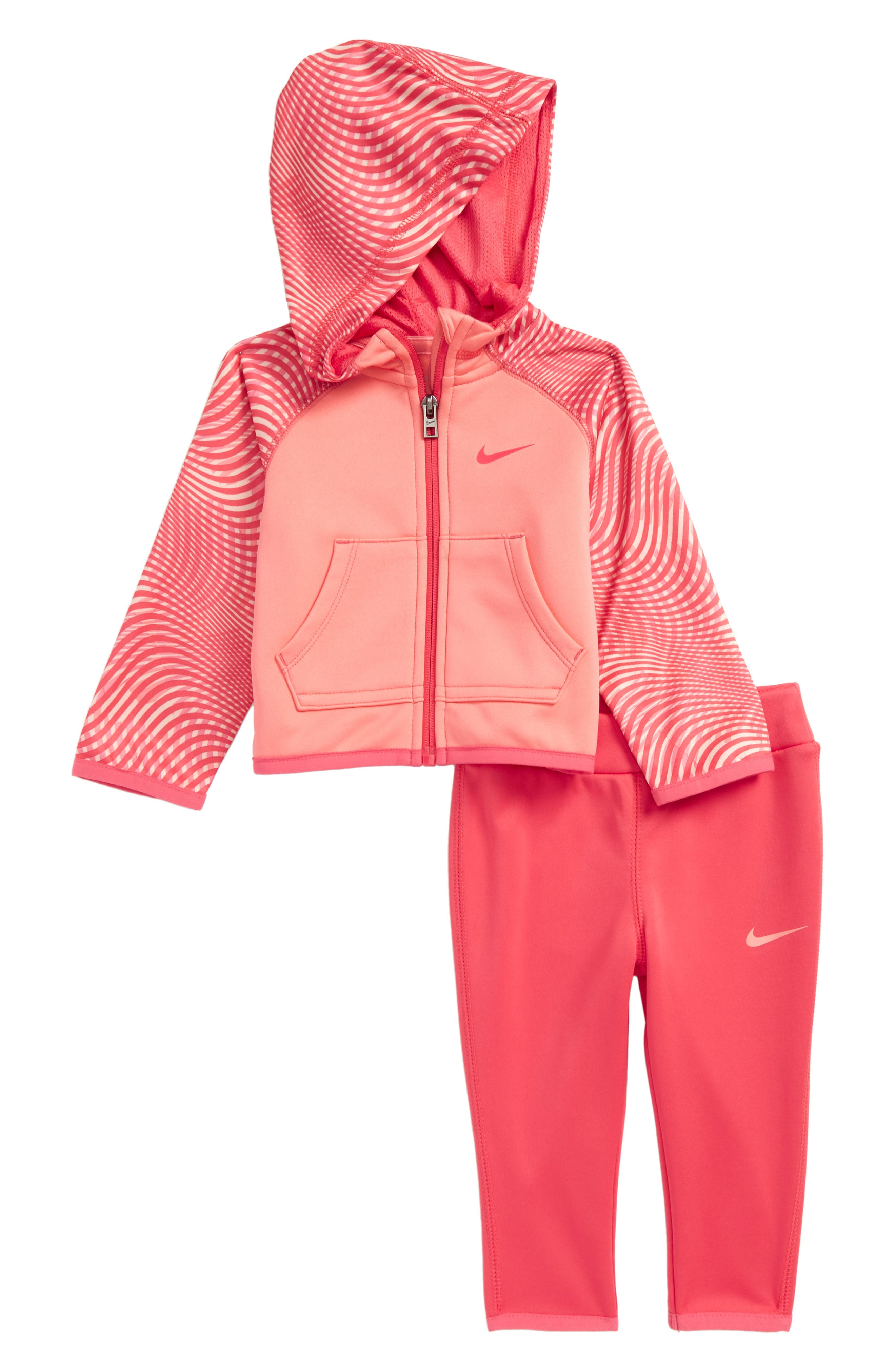 Main Image - Nike Hoodie & Pants Set (Baby Girls)