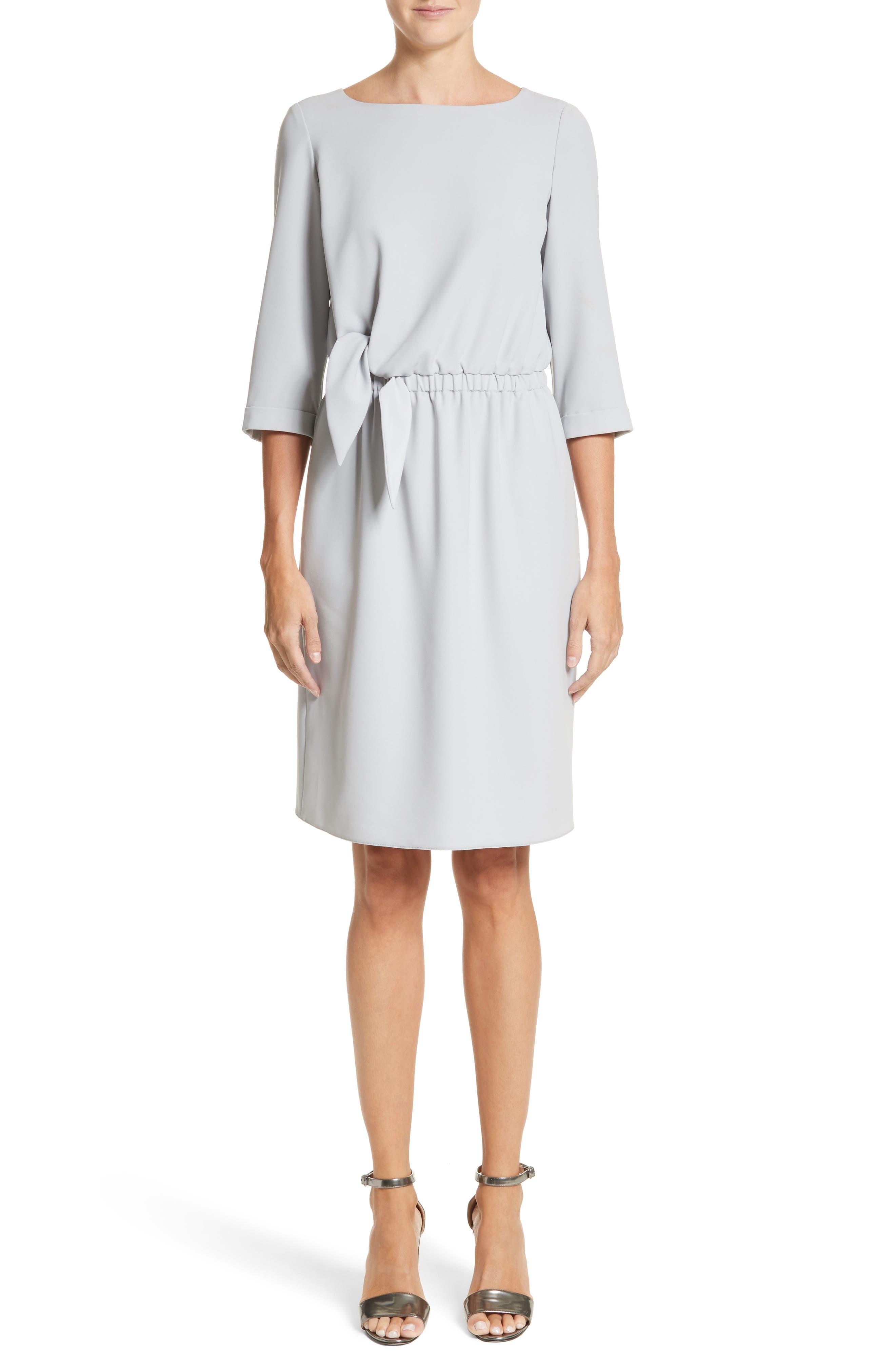 Emporio Armani Cady Tie Waist Dress
