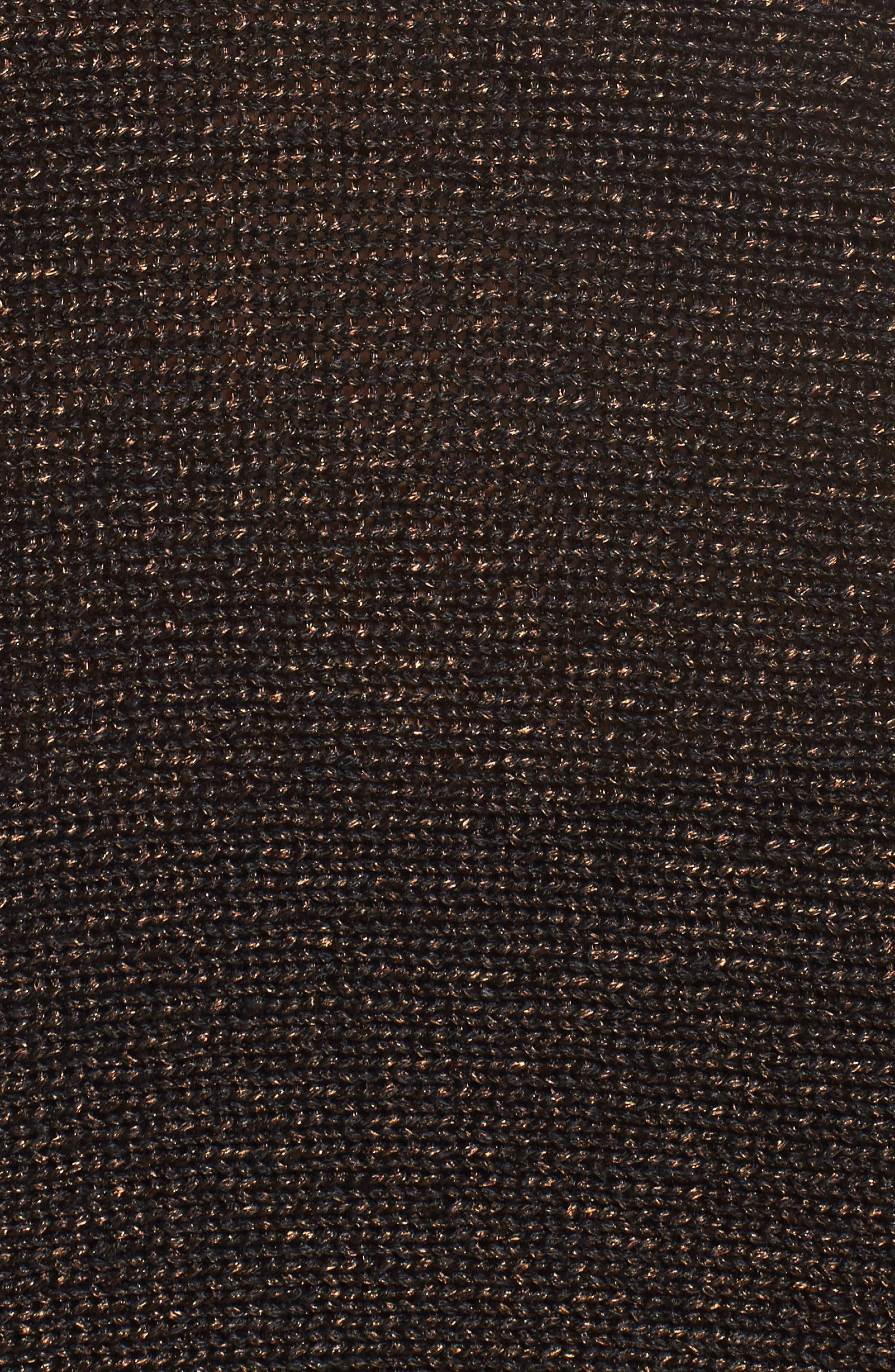 Metallic Organic Linen Blend Sweater,                             Alternate thumbnail 5, color,                             Bronze