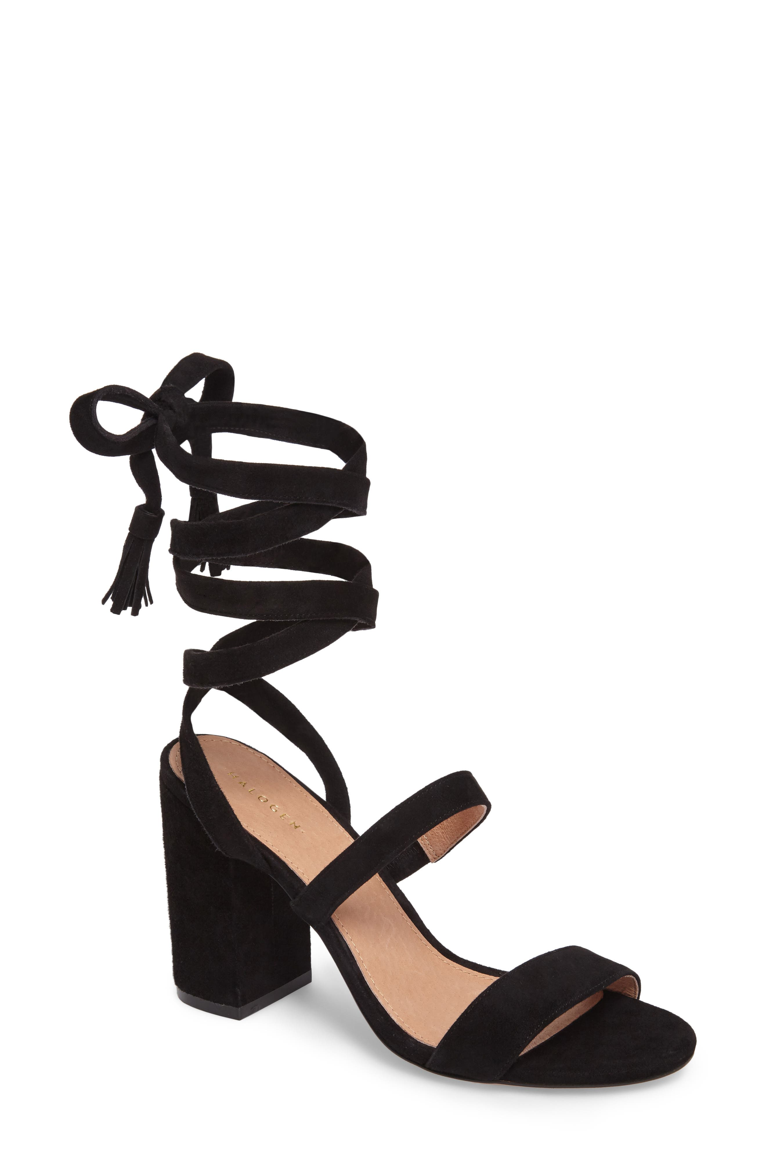 Alternate Image 1 Selected - Halogen® Finley Lace-Up Sandal (Women)