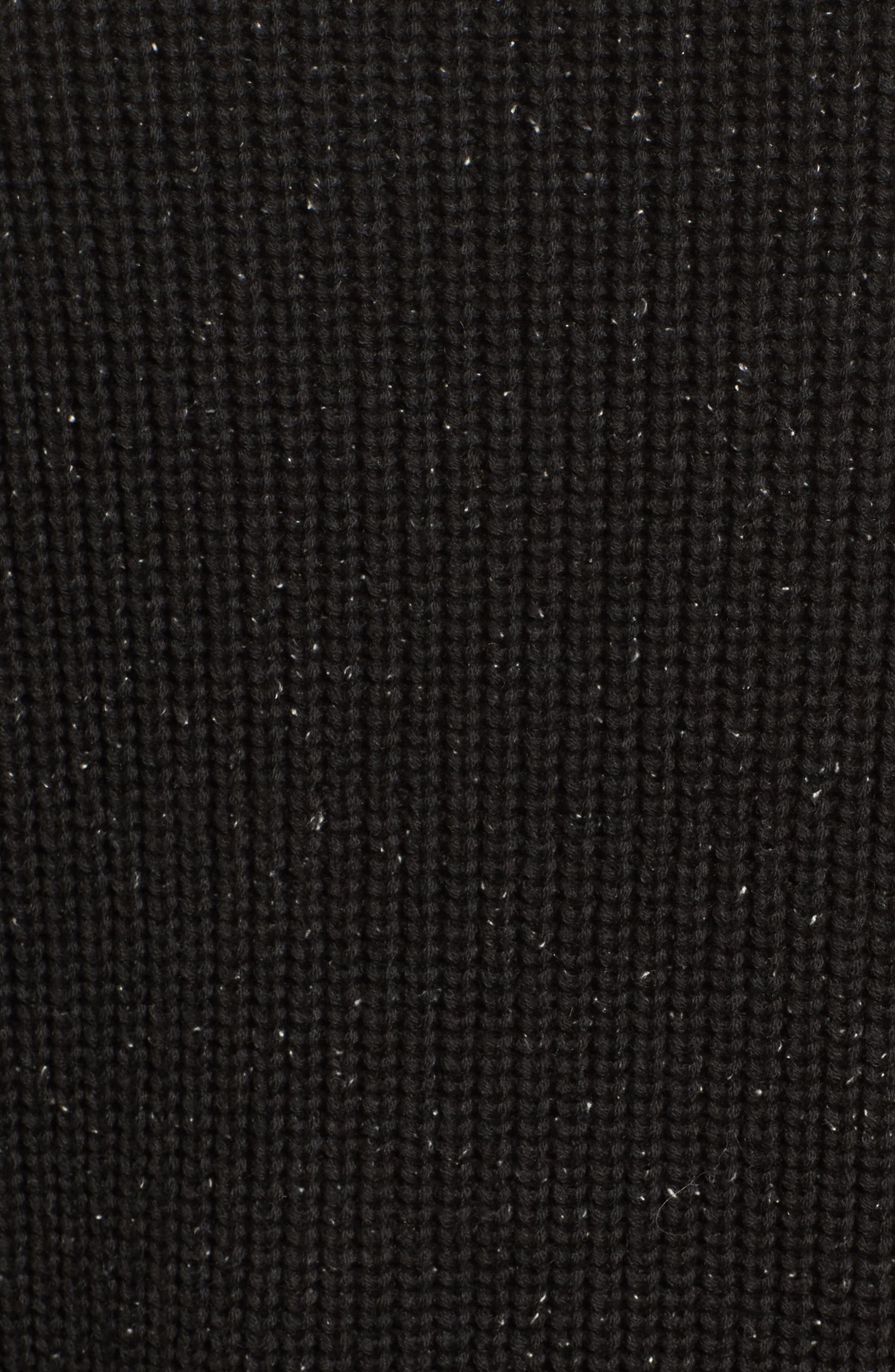 Bow Sleeve Tunic,                             Alternate thumbnail 5, color,                             Black Nep Pattern