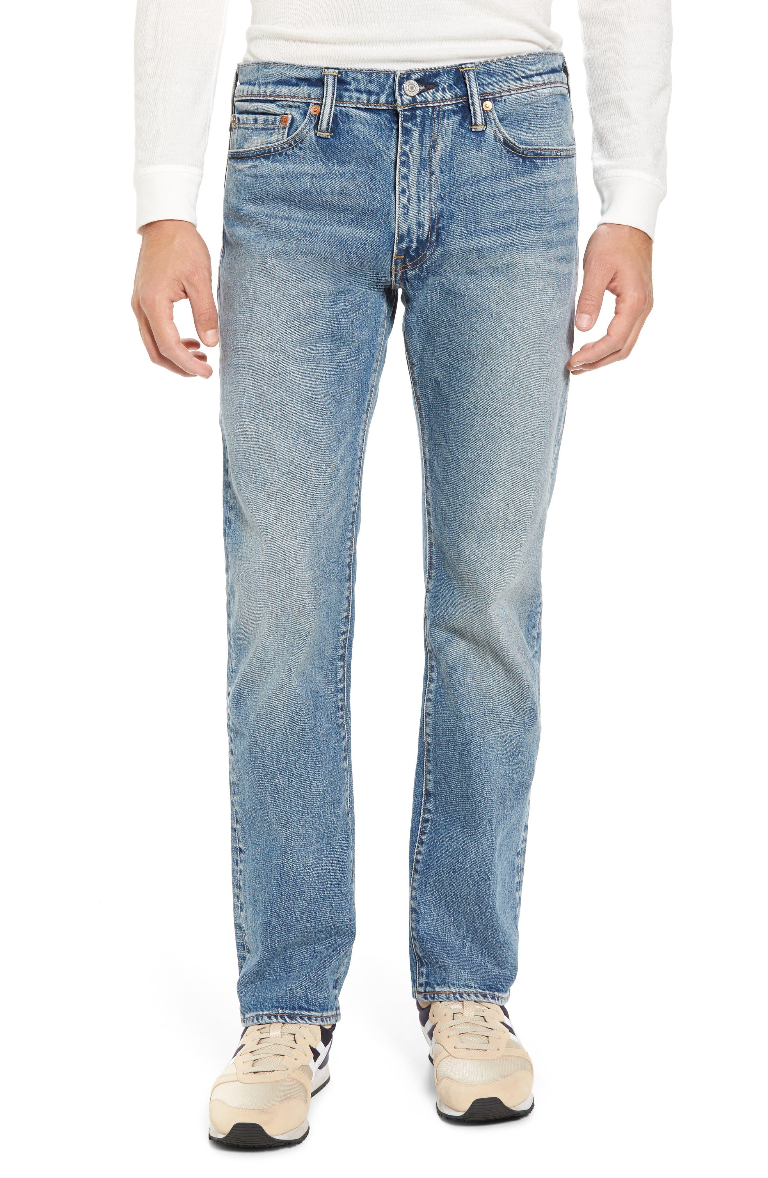 Alternate Image 1 Selected - Levi's® 513™ Slim Straight Leg Jeans (Light Blue Rolf)