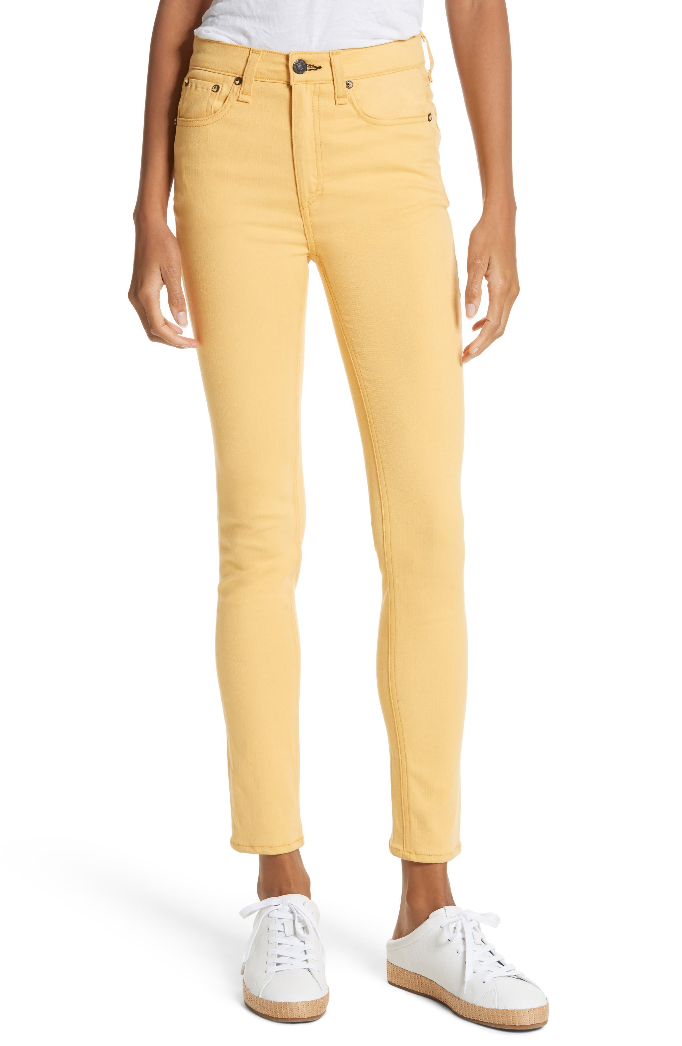 High Waist Ankle Skinny Jeans,                         Main,                         color, Sunrise