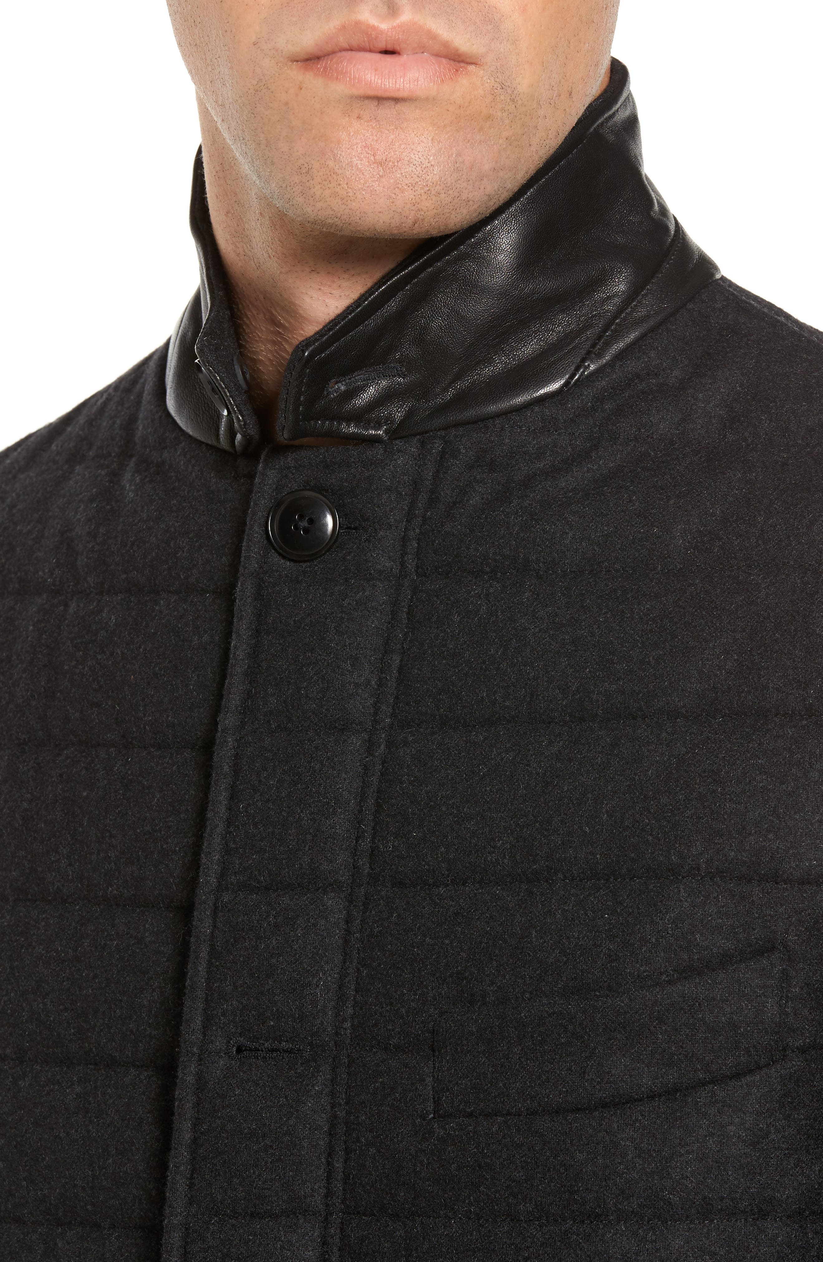 Leighton Place Padded Field Coat,                             Alternate thumbnail 4, color,                             Coal