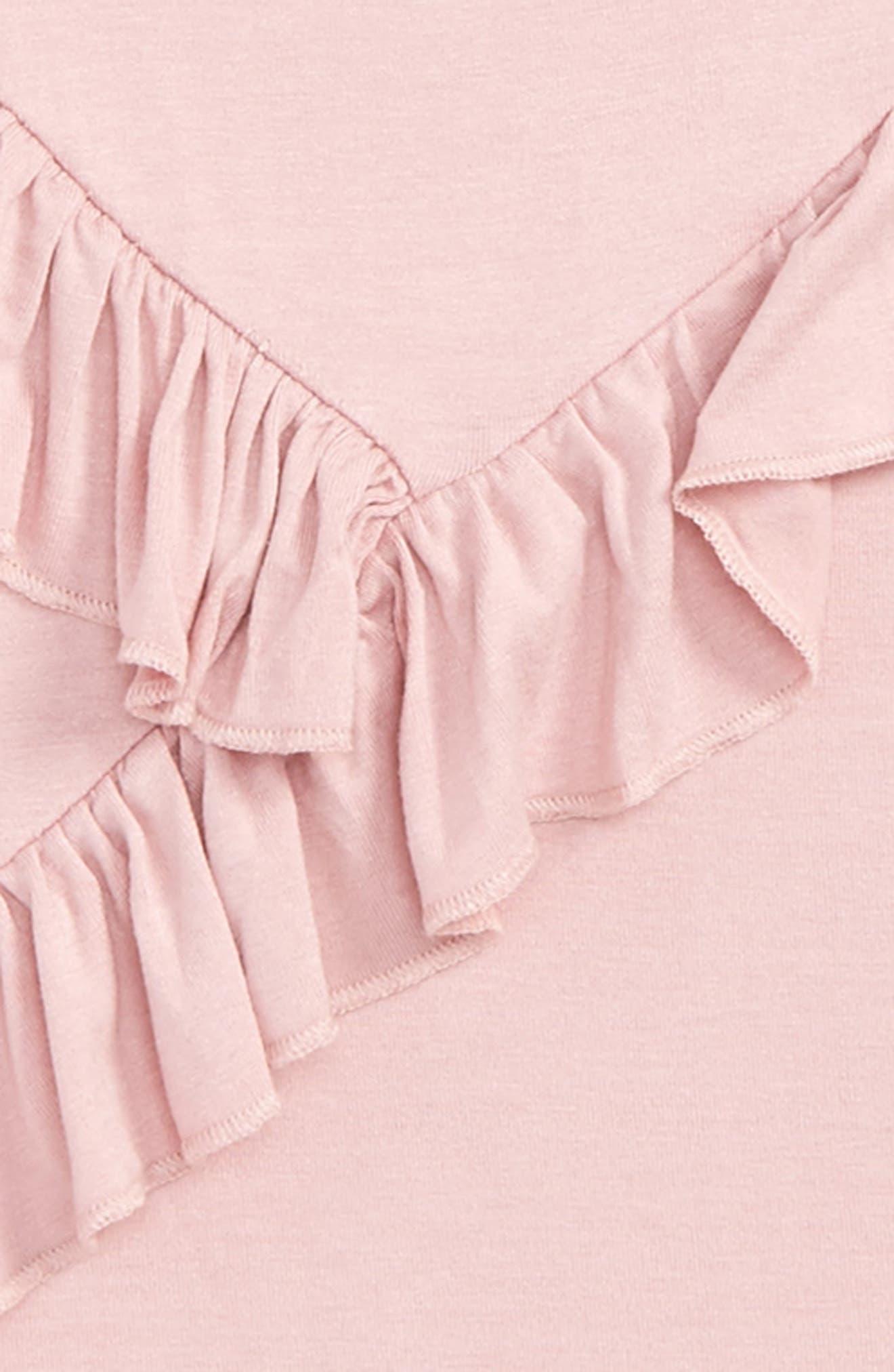 Ruffle Tee,                             Alternate thumbnail 2, color,                             Pink Zephyr