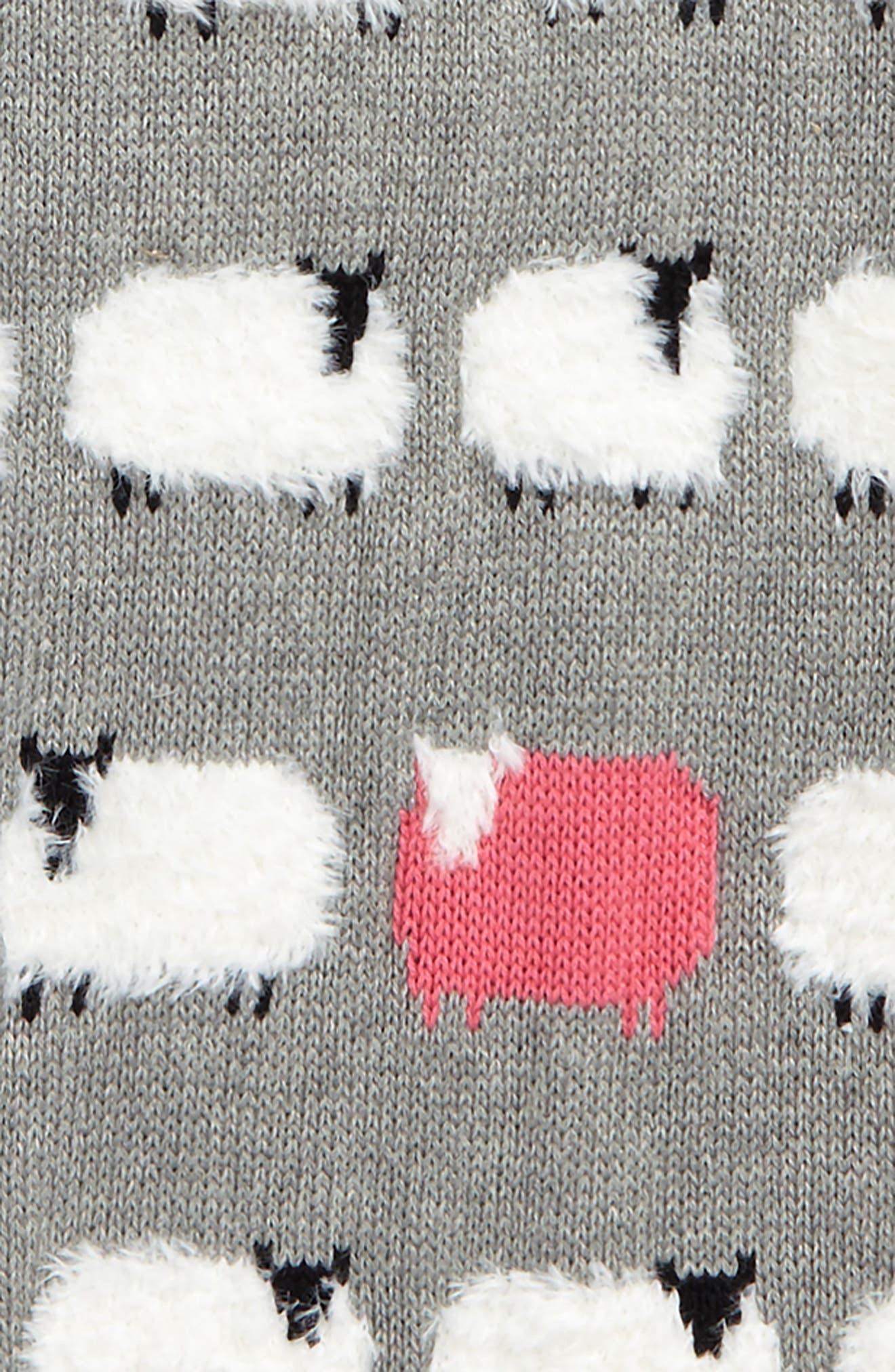 Intarsia Knit Sweater,                             Alternate thumbnail 2, color,                             Grey Medium Heather Sheep