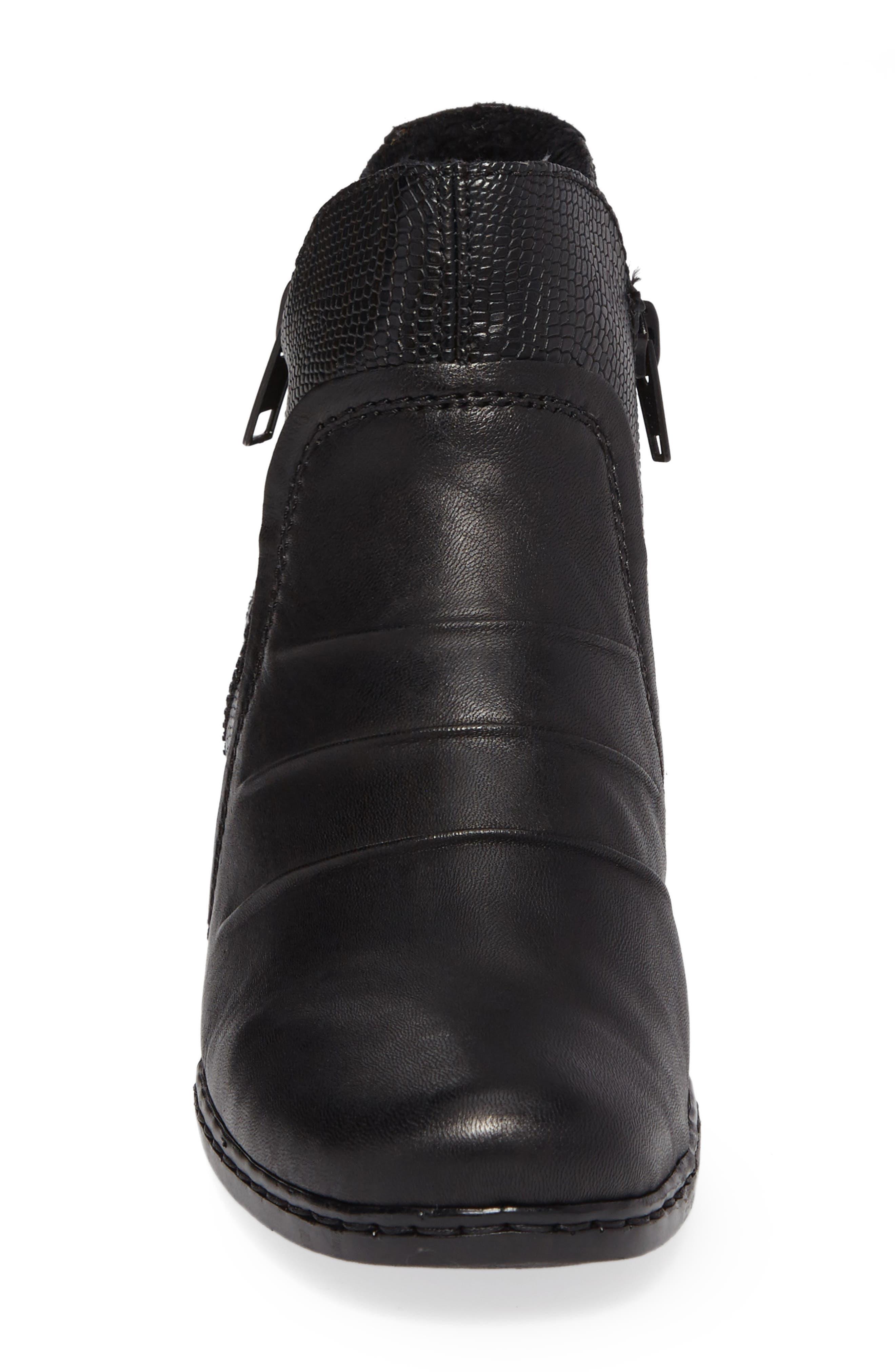 Lynn 62 Bootie,                             Alternate thumbnail 4, color,                             Schwarz Nero Leather