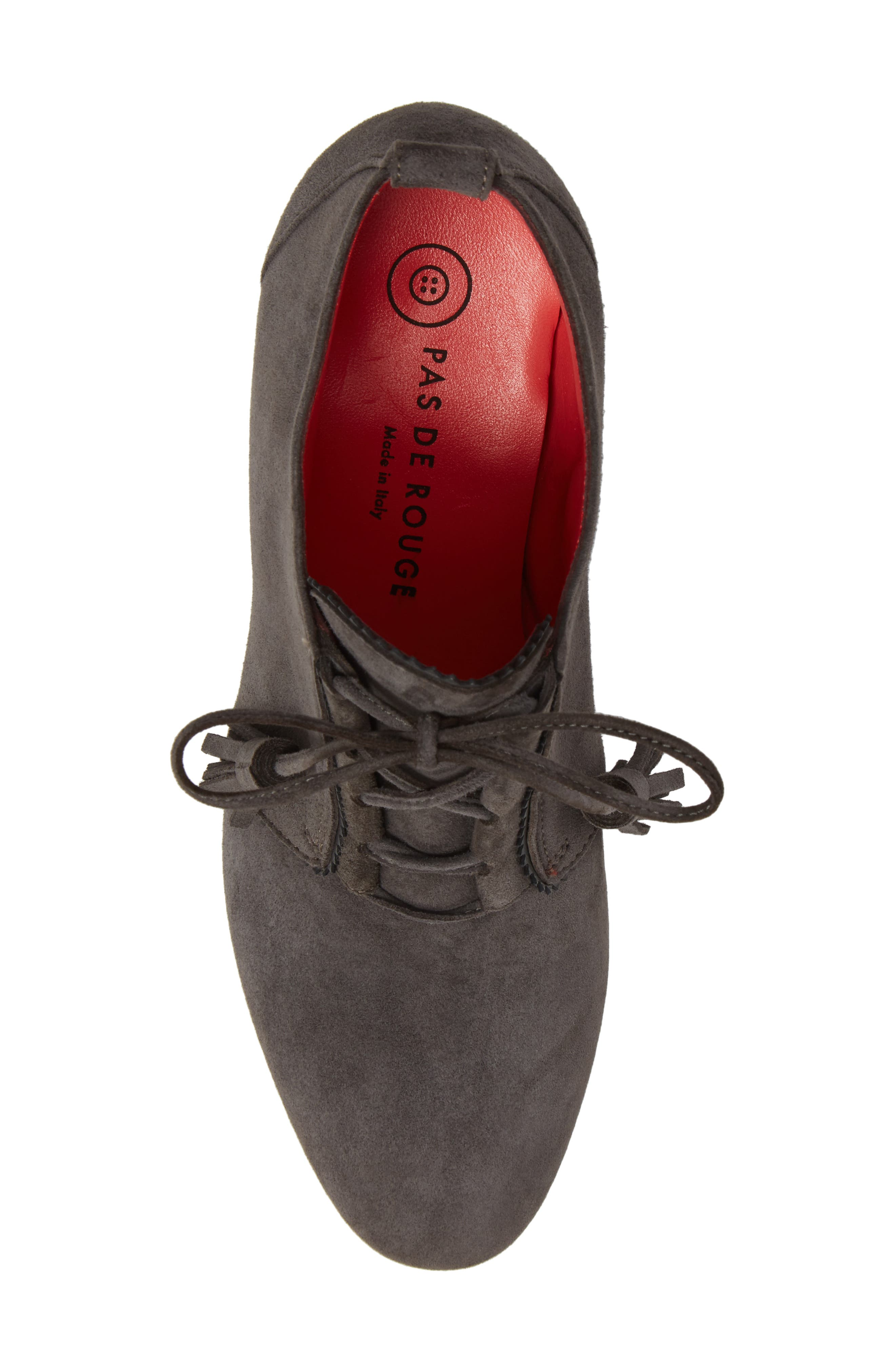 Alternate Image 5  - Pas de Rouge Lace-Up Platform Bootie (Women)