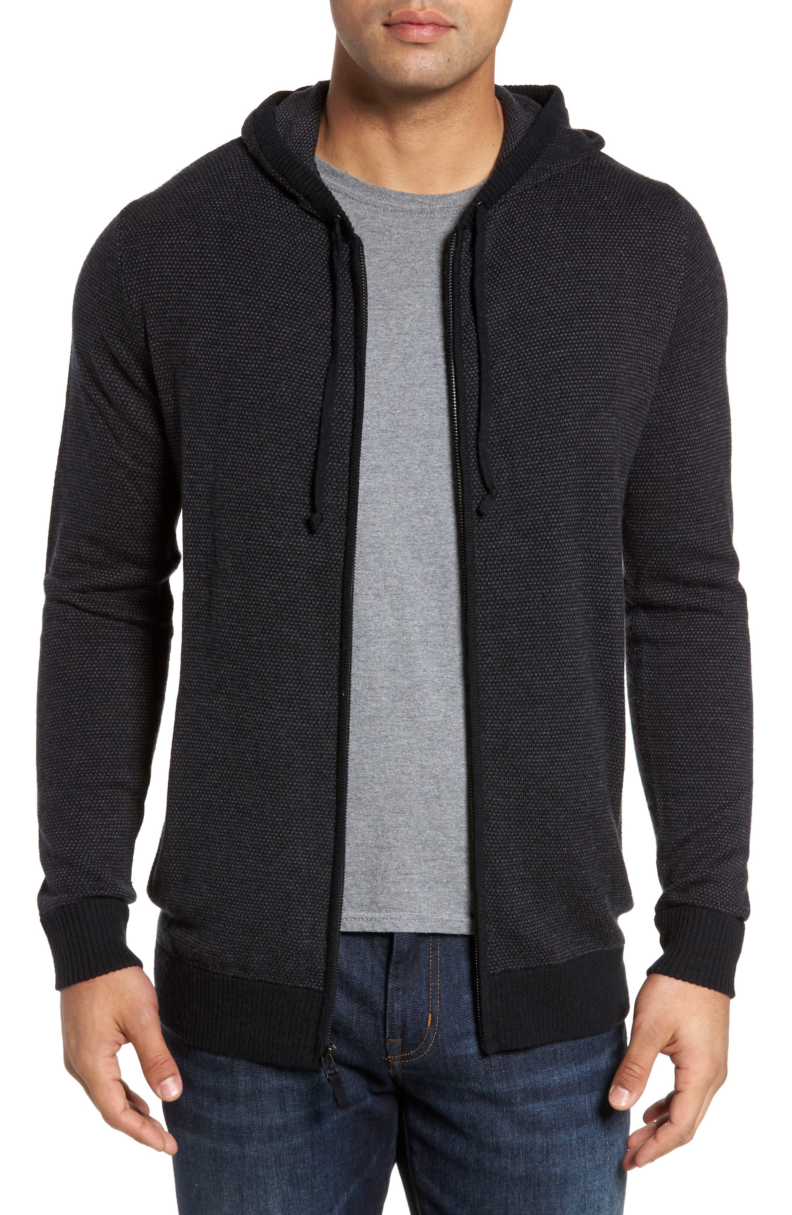 Travis Mathew Graydon Wool & Cashmere Zip Front Hoodie