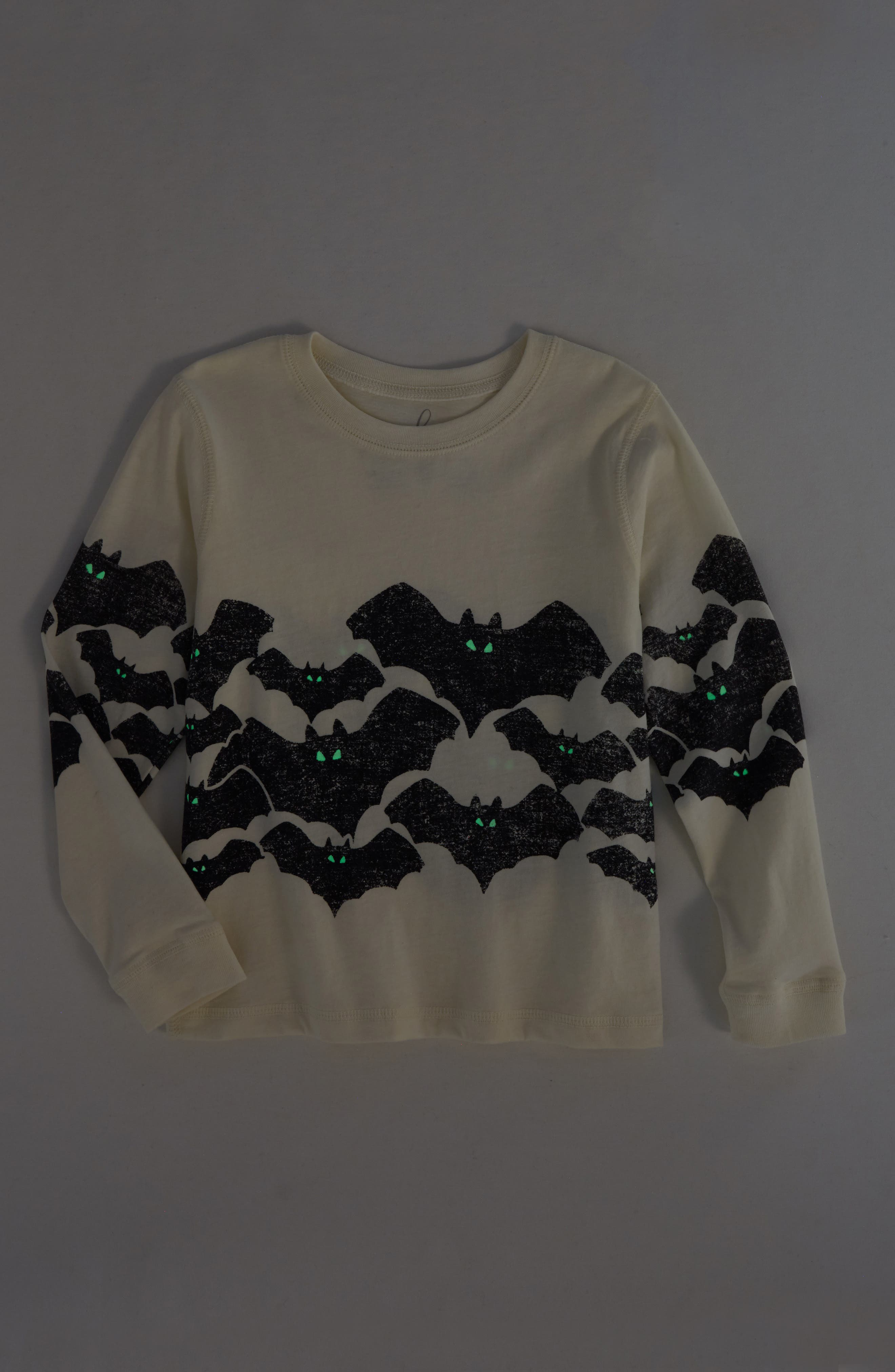 Bats Glow in the Dark T-Shirt,                             Alternate thumbnail 2, color,                             Ivory