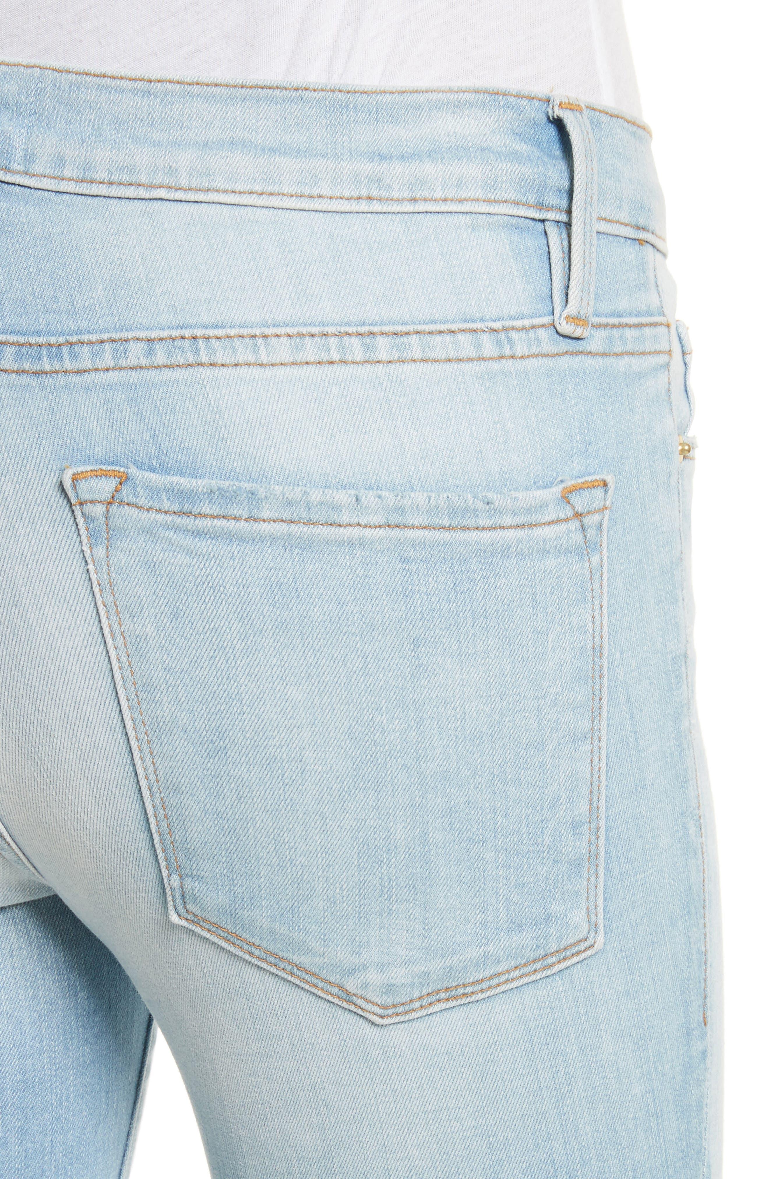 Alternate Image 4  - FRAME Le Skinny de Jeanne Raw Edge Skinny Jeans