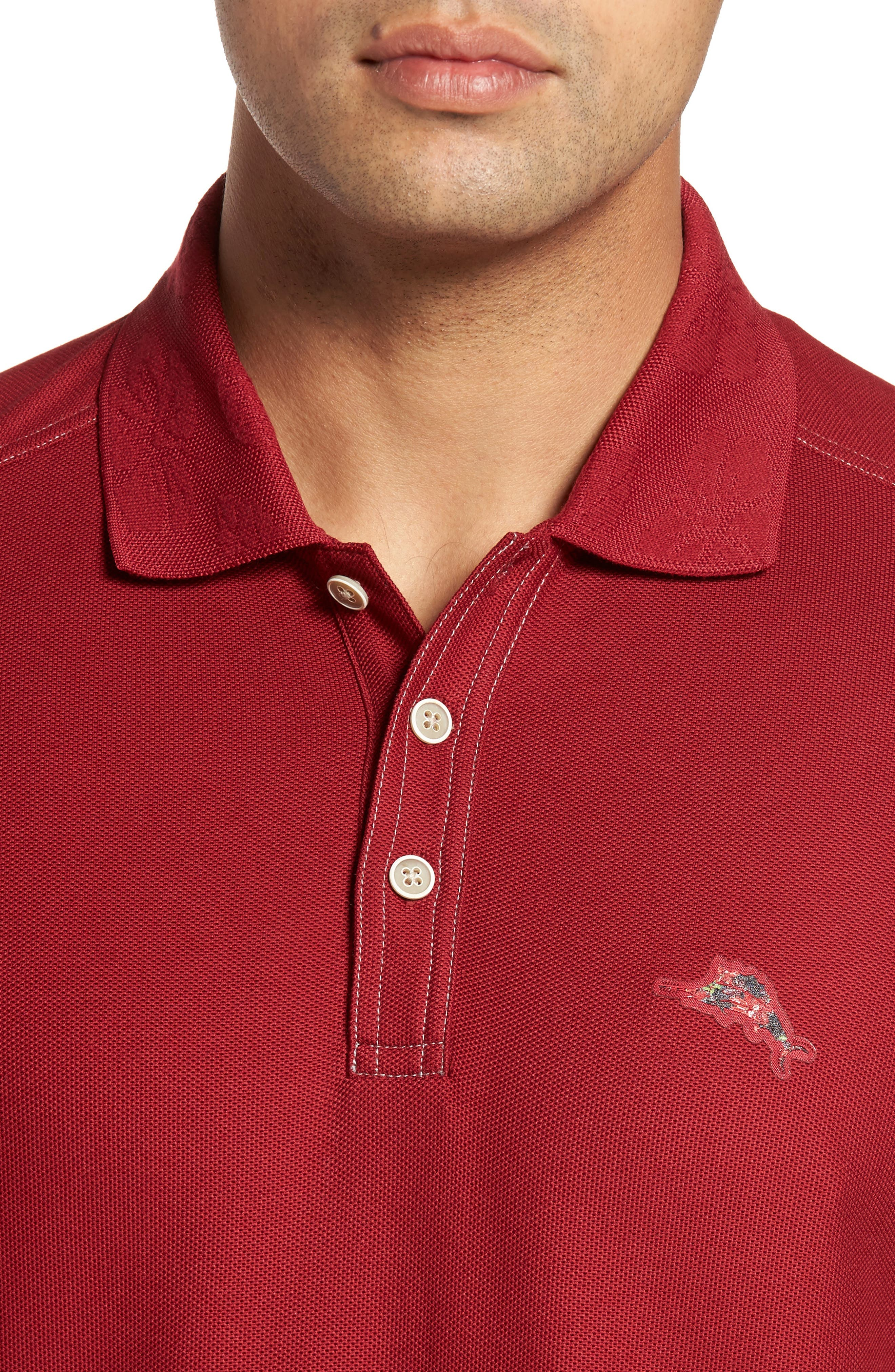 Alternate Image 4  - Tommy Bahama Limited Edition Poinsettia Emfielder Piqué Polo