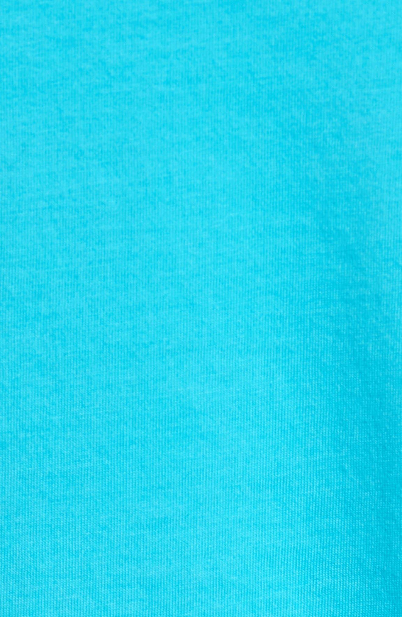 Classic Fit Pocket T-Shirt,                             Alternate thumbnail 5, color,                             Azure