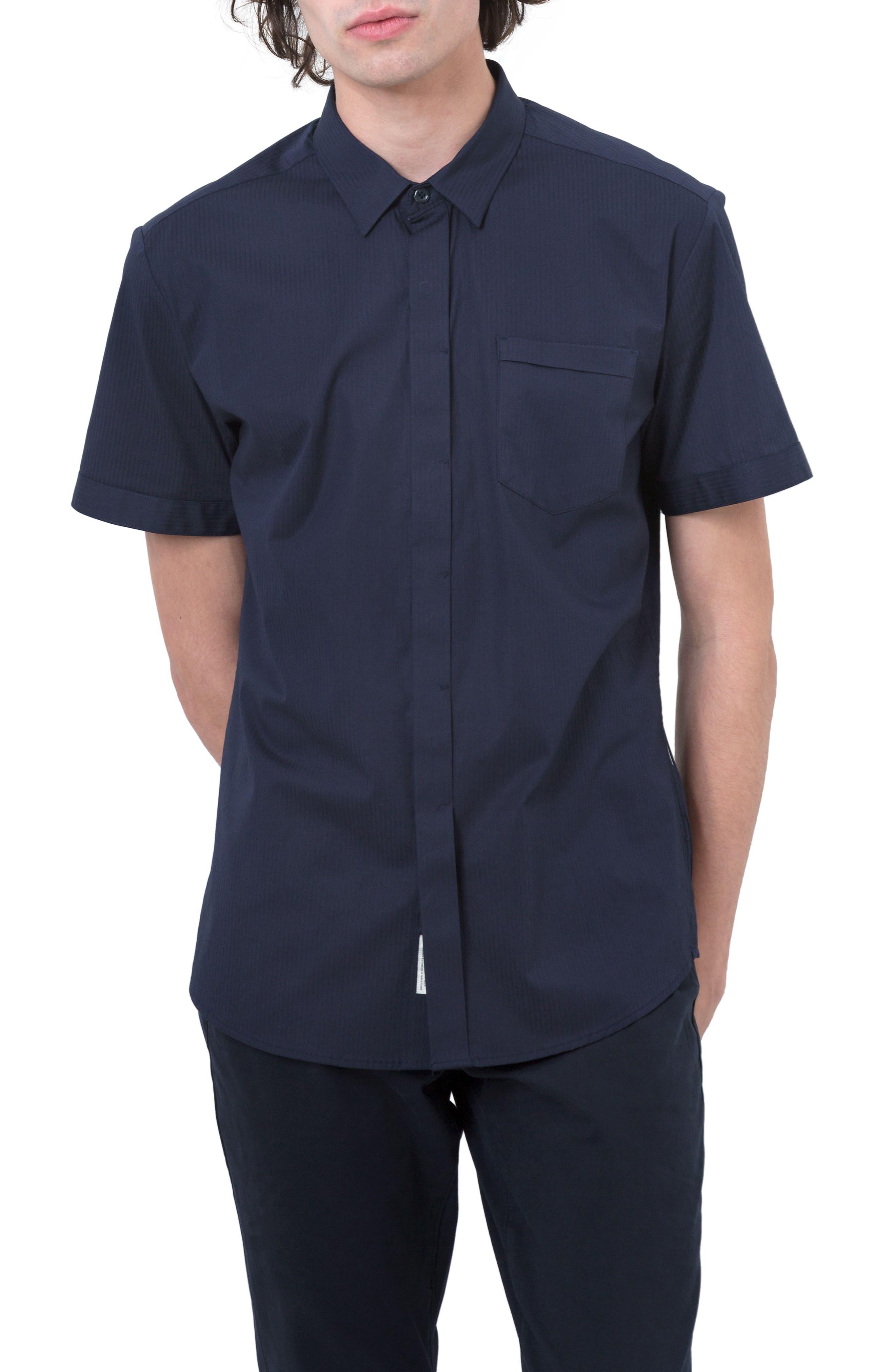 City Savior Woven Shirt,                             Main thumbnail 1, color,                             Navy