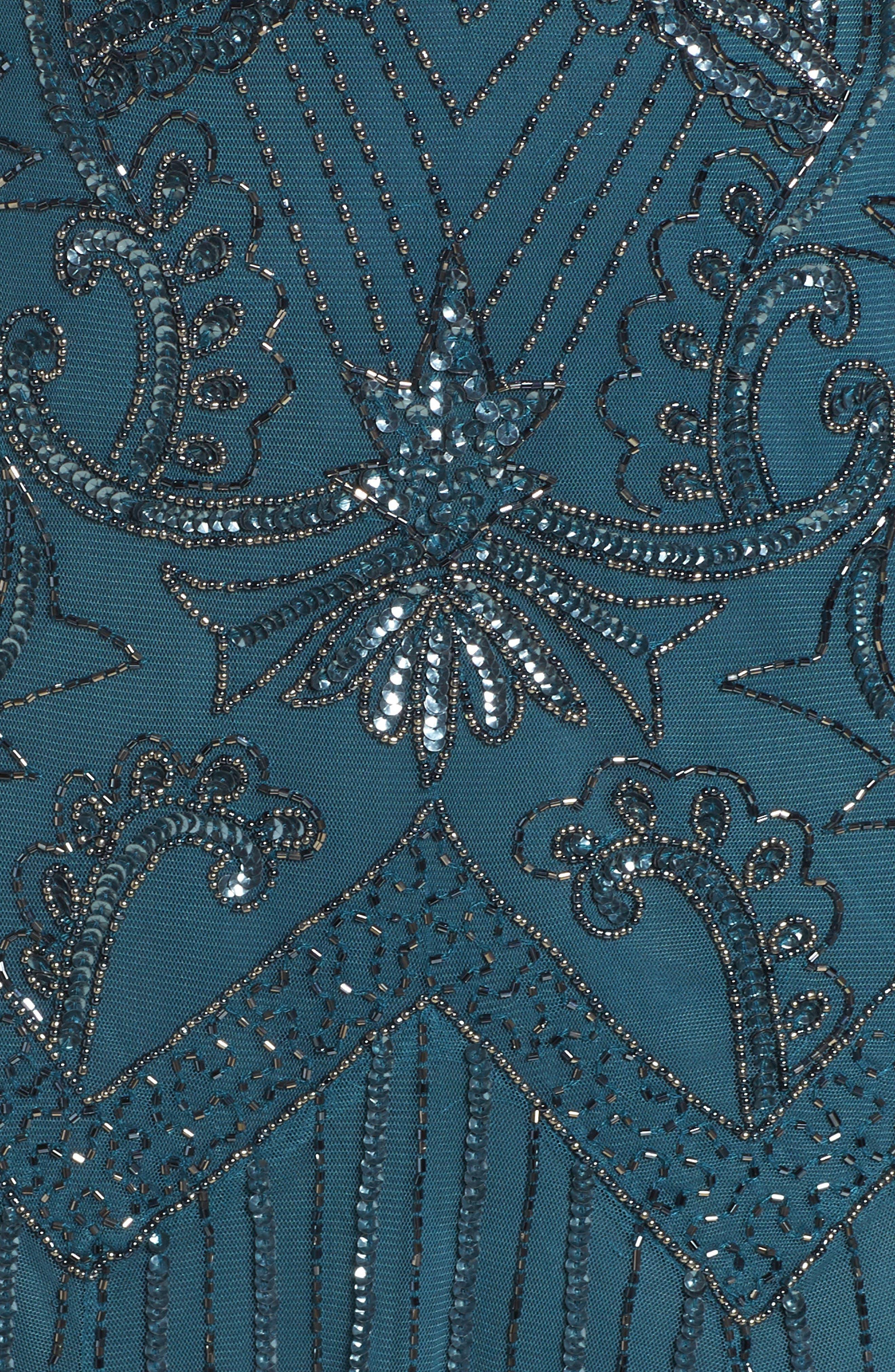 Alternate Image 5  - Pisarro Nights Embellished Double V-Neck Long Dress (Plus Size)