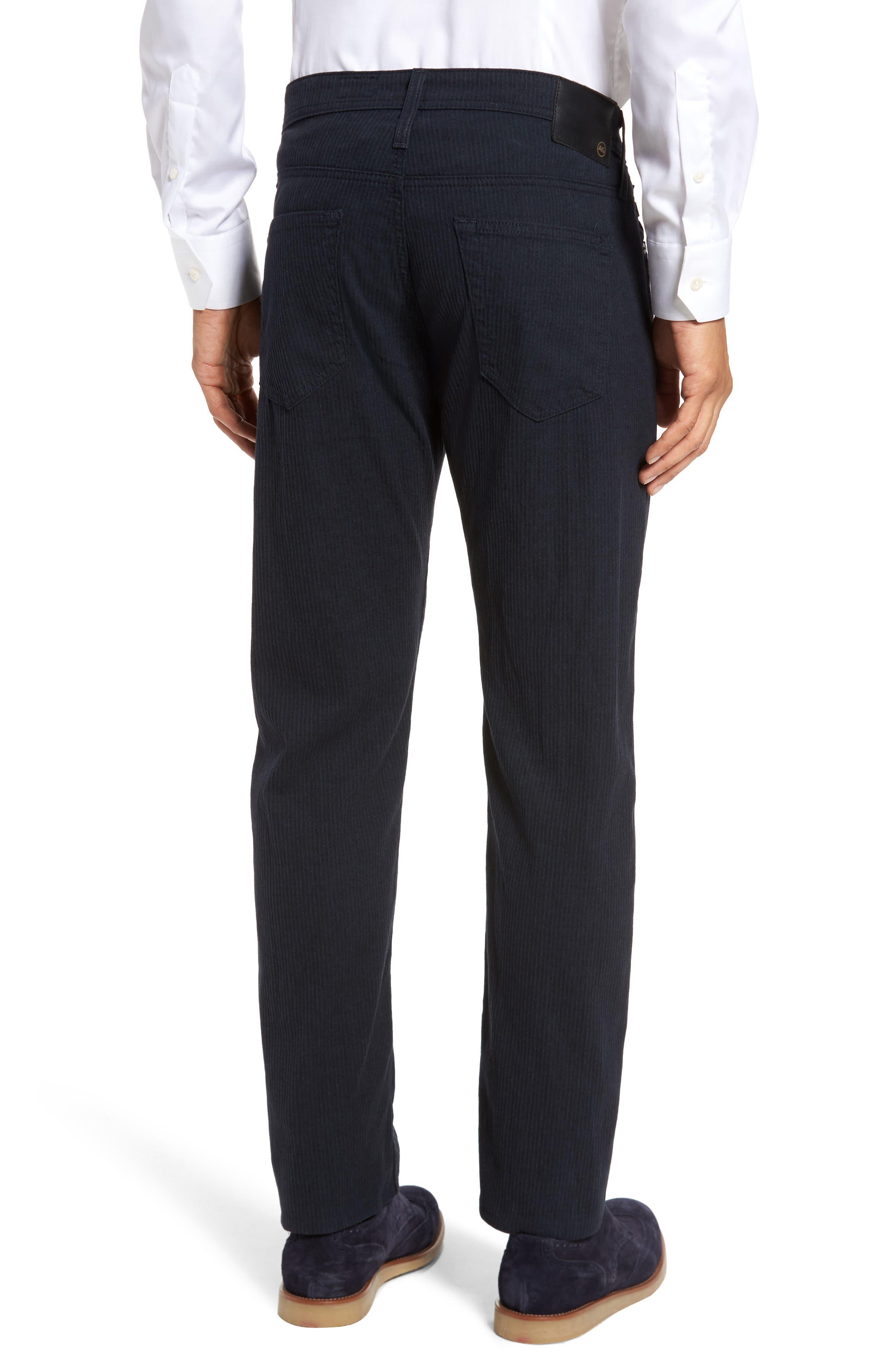 Tellis Modern Slim Stripe Five-Pocket Pants,                             Alternate thumbnail 2, color,                             Midnight Shadow