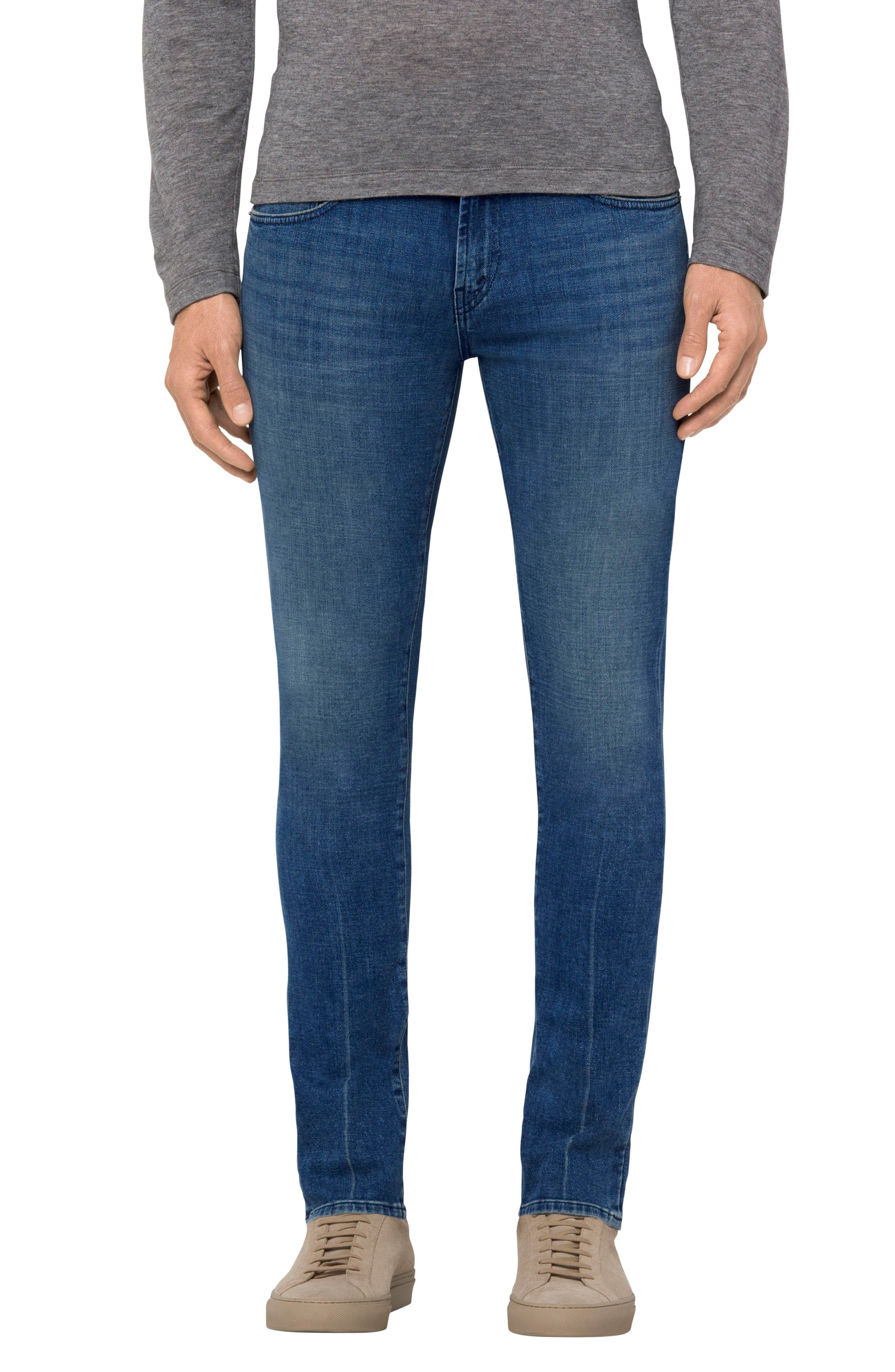 Tyler Slim Fit Jeans,                             Main thumbnail 1, color,                             Mantaray