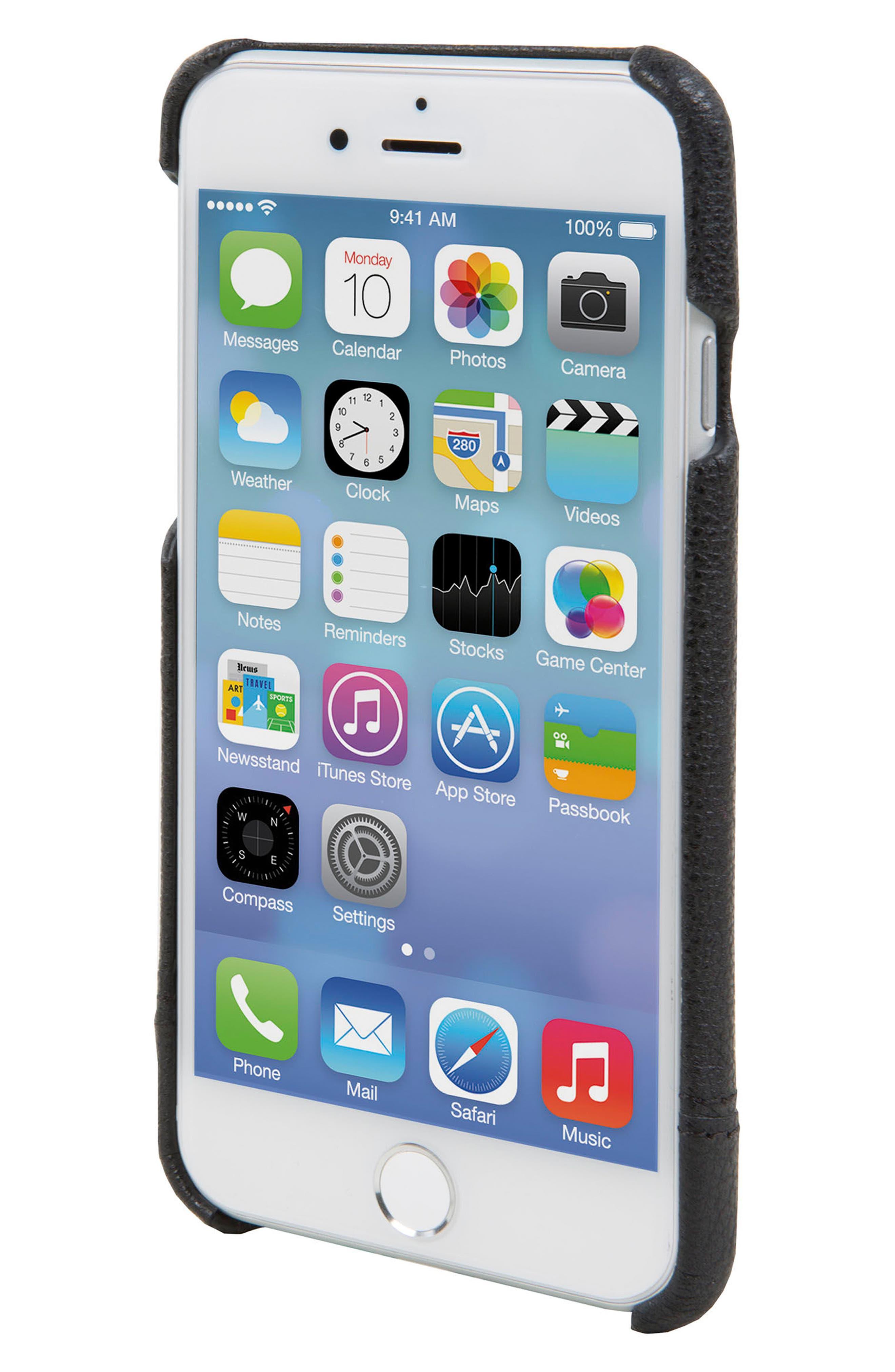 Alternate Image 3  - HEX Focus Leather iPhone 6/6s/7/8 Case
