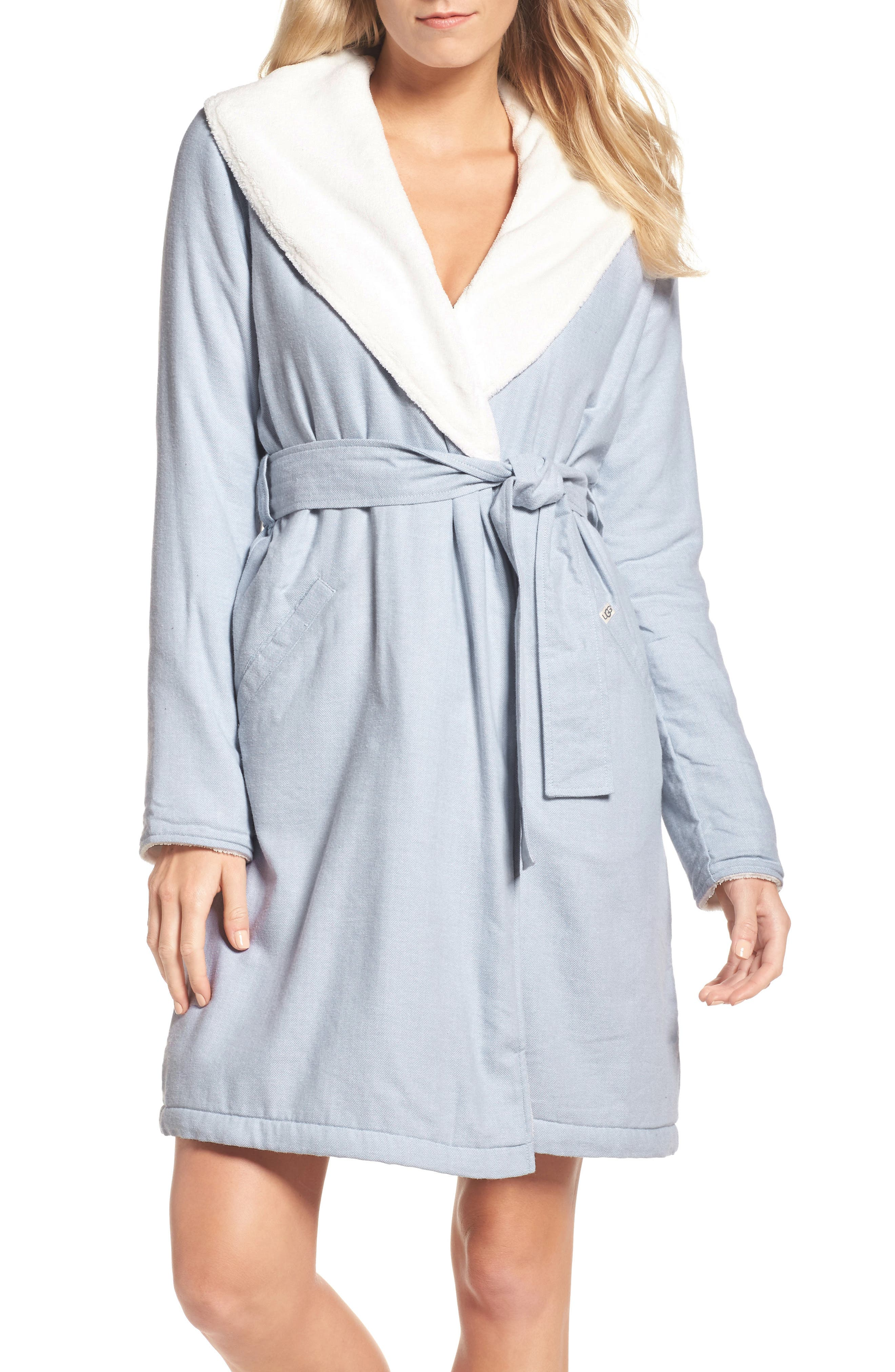 UGG® Anika Herringbone Fleece Robe