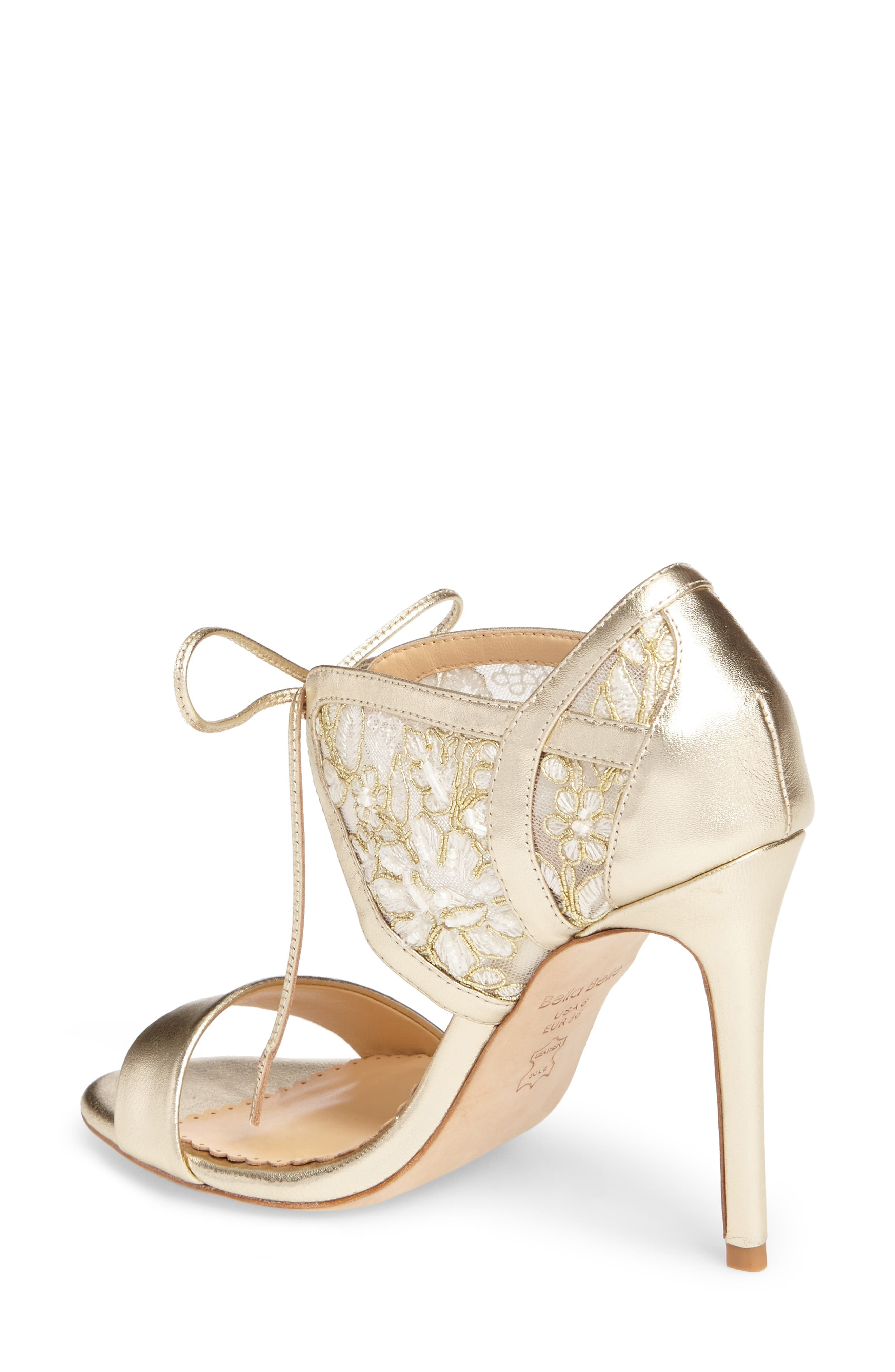 Grace Ankle Cuff Sandal,                             Alternate thumbnail 2, color,                             Gold Lace