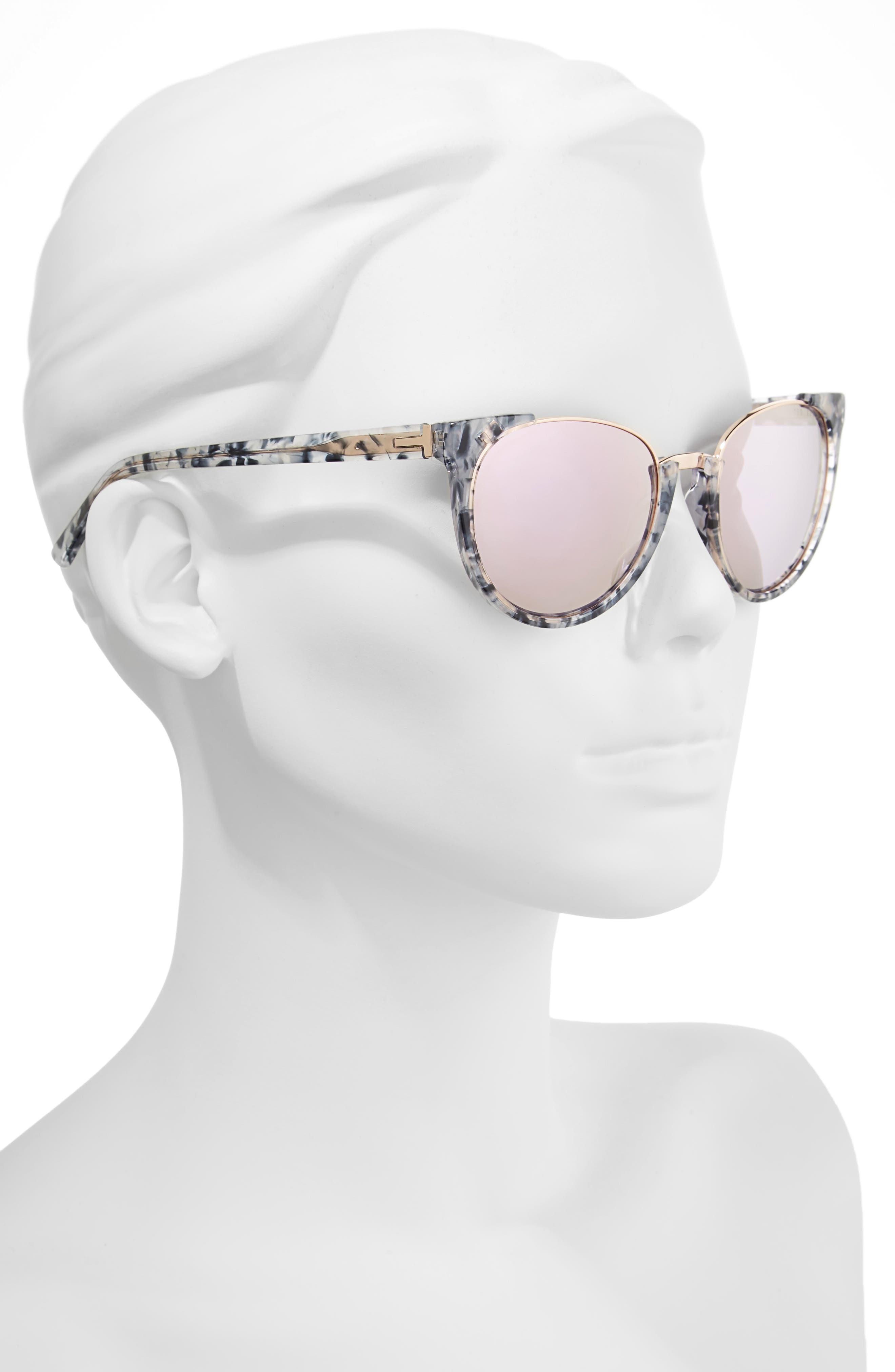 53mm Modified Oval Sunglasses,                             Alternate thumbnail 2, color,                             Blue