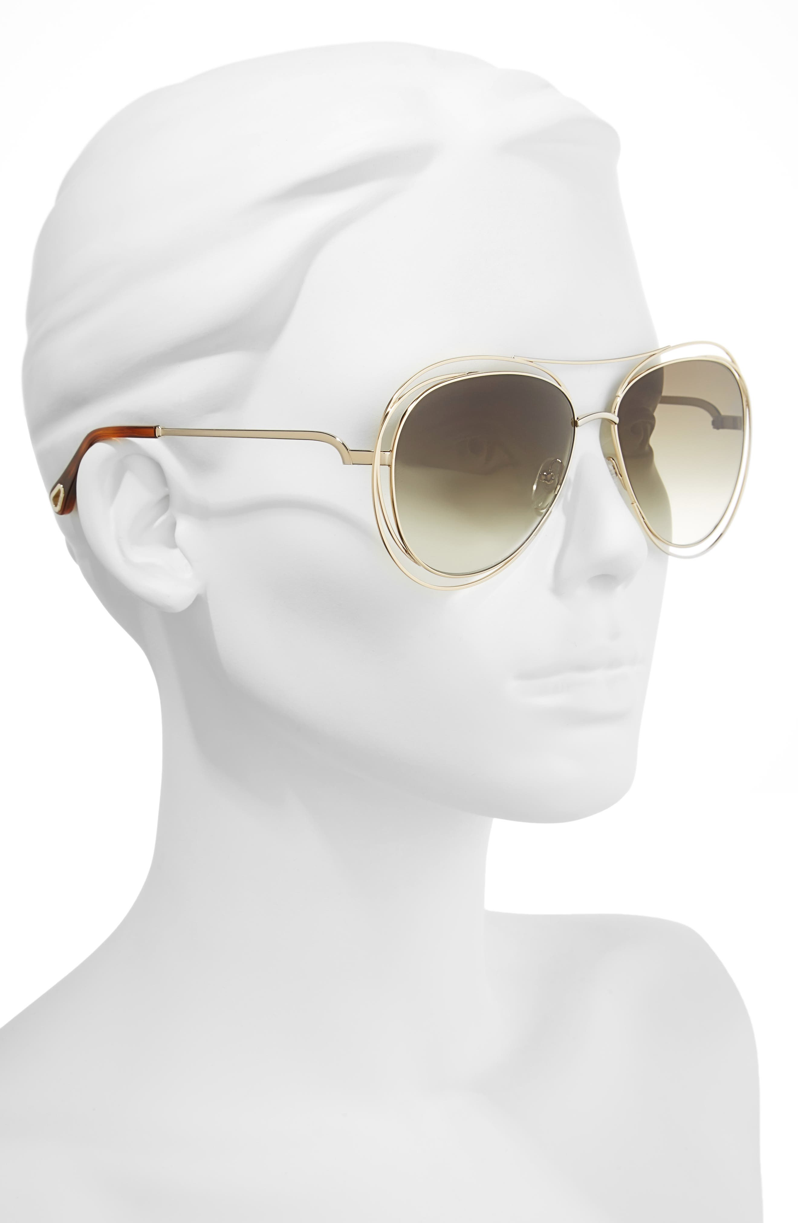 Alternate Image 4  - Chloé 61mm Aviator Sunglasses