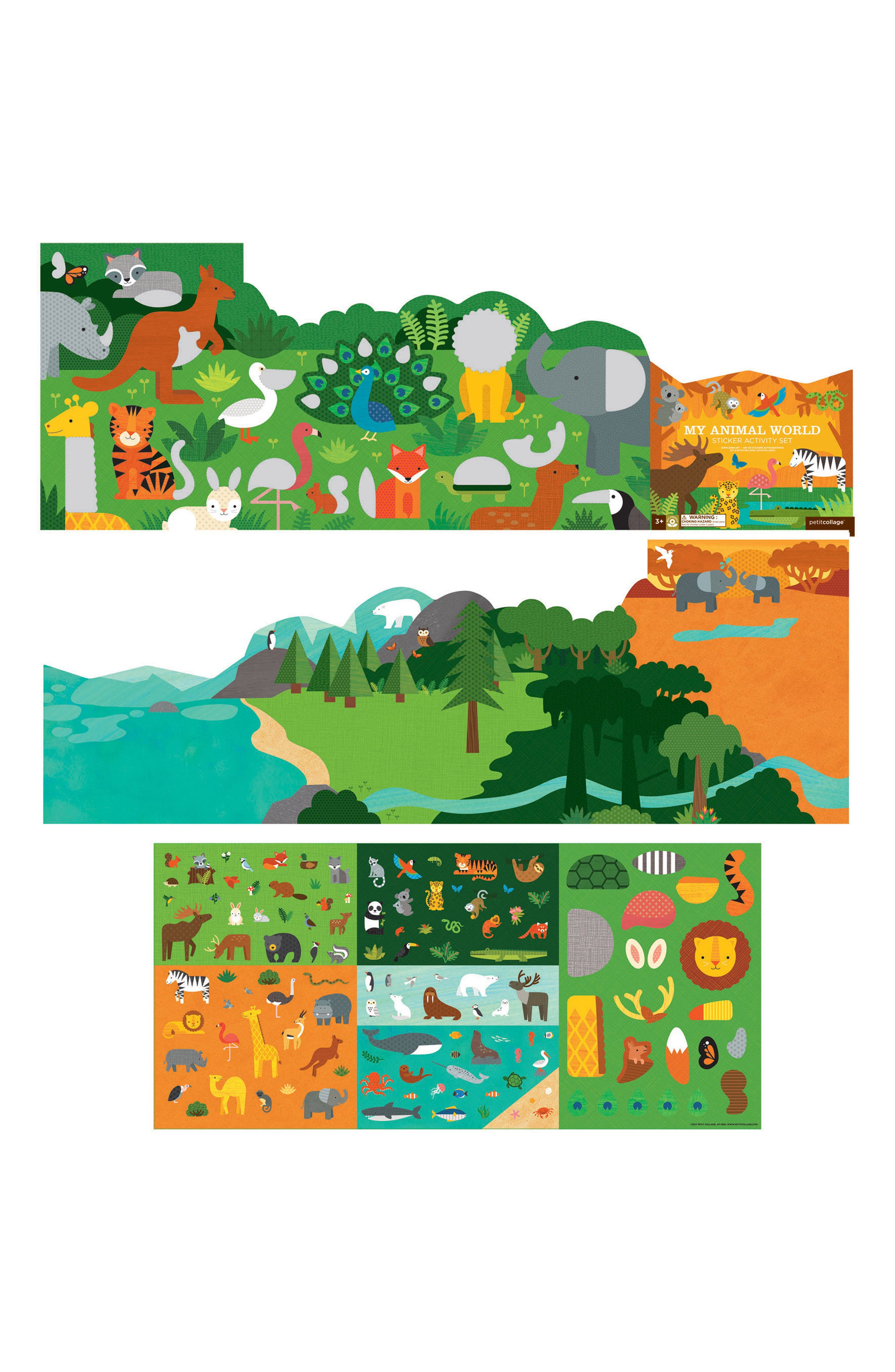 My Animal World Sticker Activity Set,                             Alternate thumbnail 2, color,                             Multi