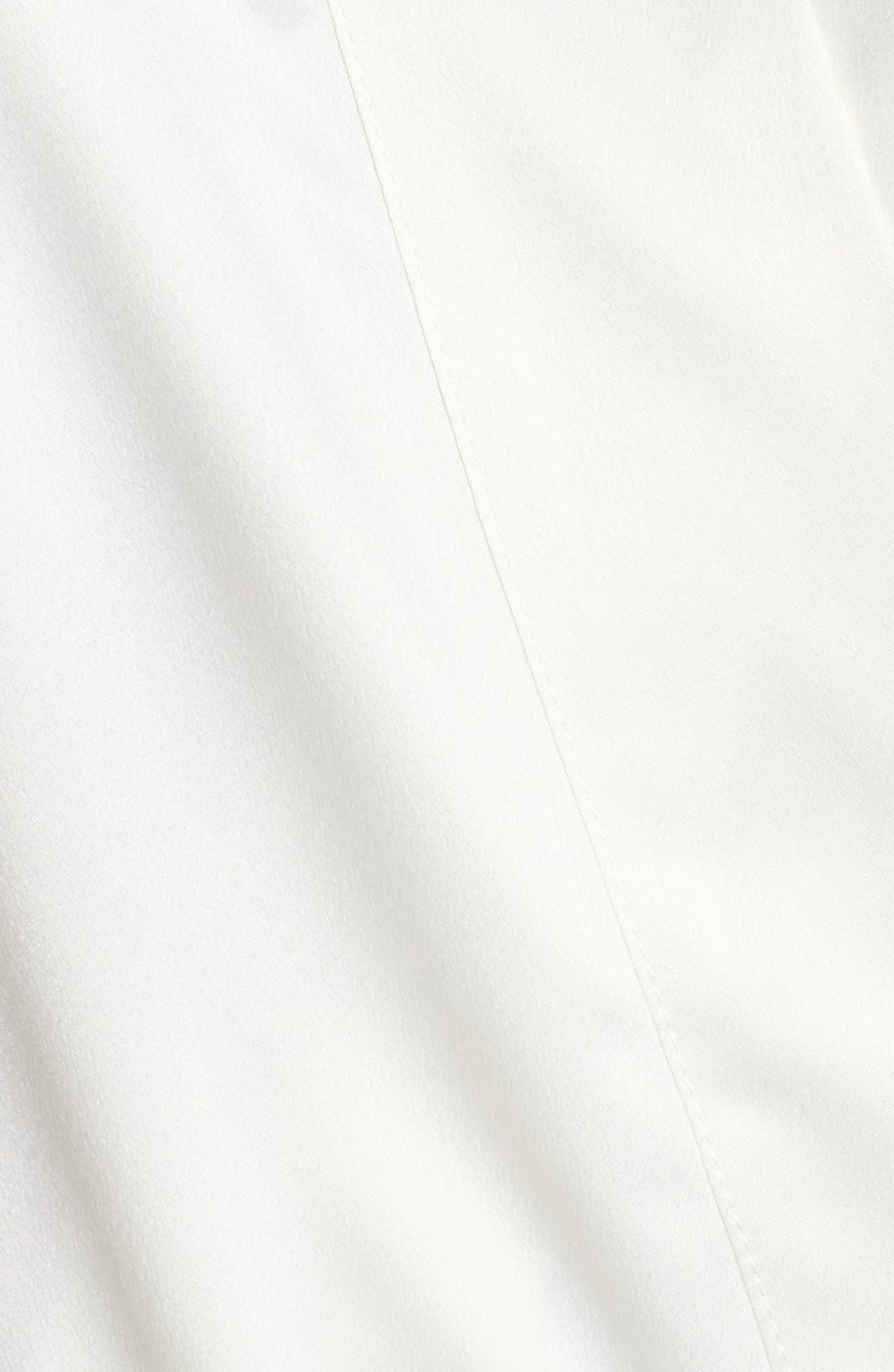 Gabby Satin Kimono Robe,                             Alternate thumbnail 6, color,                             Ivory