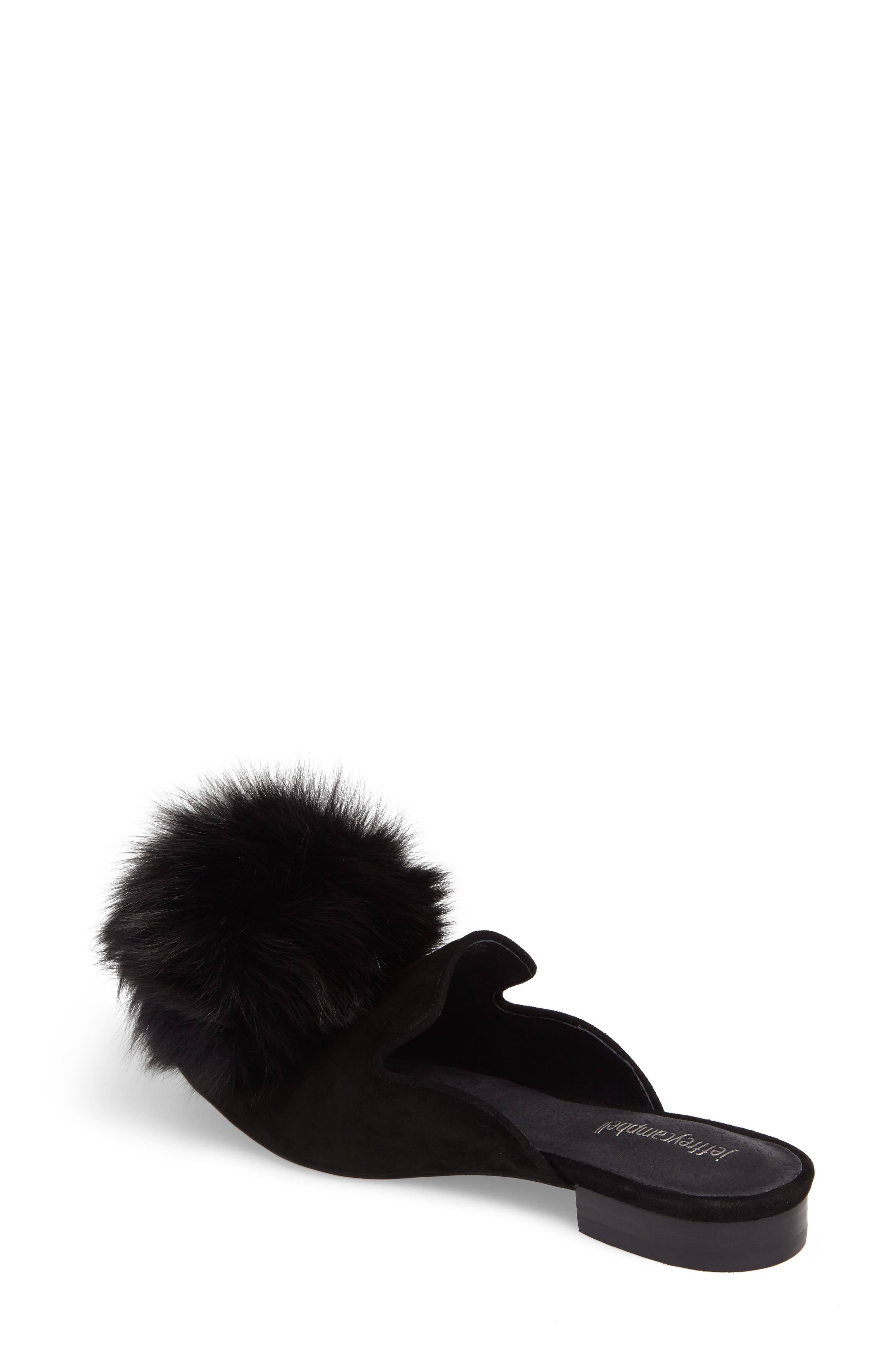 Alternate Image 2  - Jeffrey Campbell Claes Genuine Fur Pompom Mule (Women)