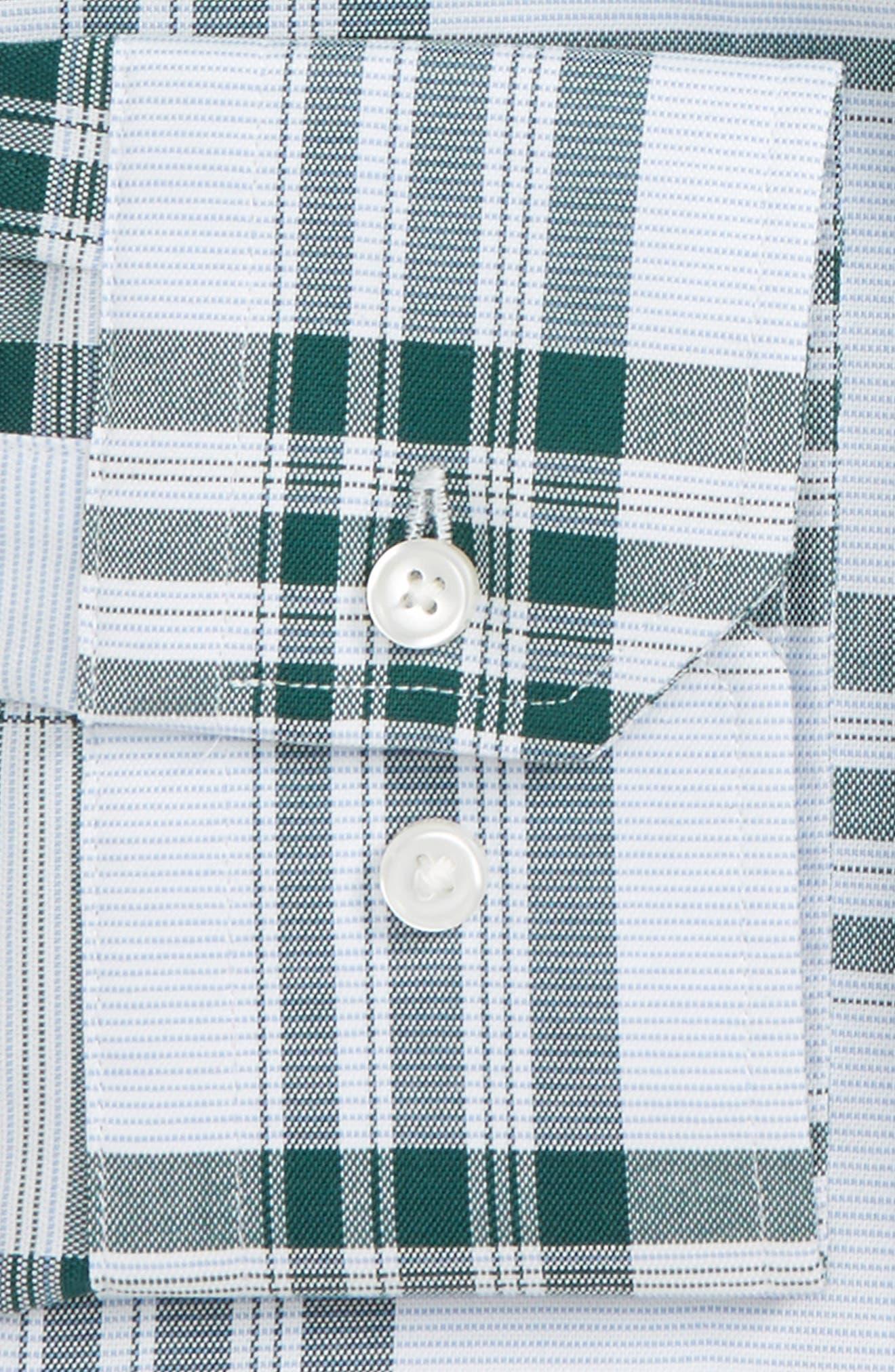 Alternate Image 2  - Calibrate Trim Fit Plaid Non-Iron Stretch Dress Shirt