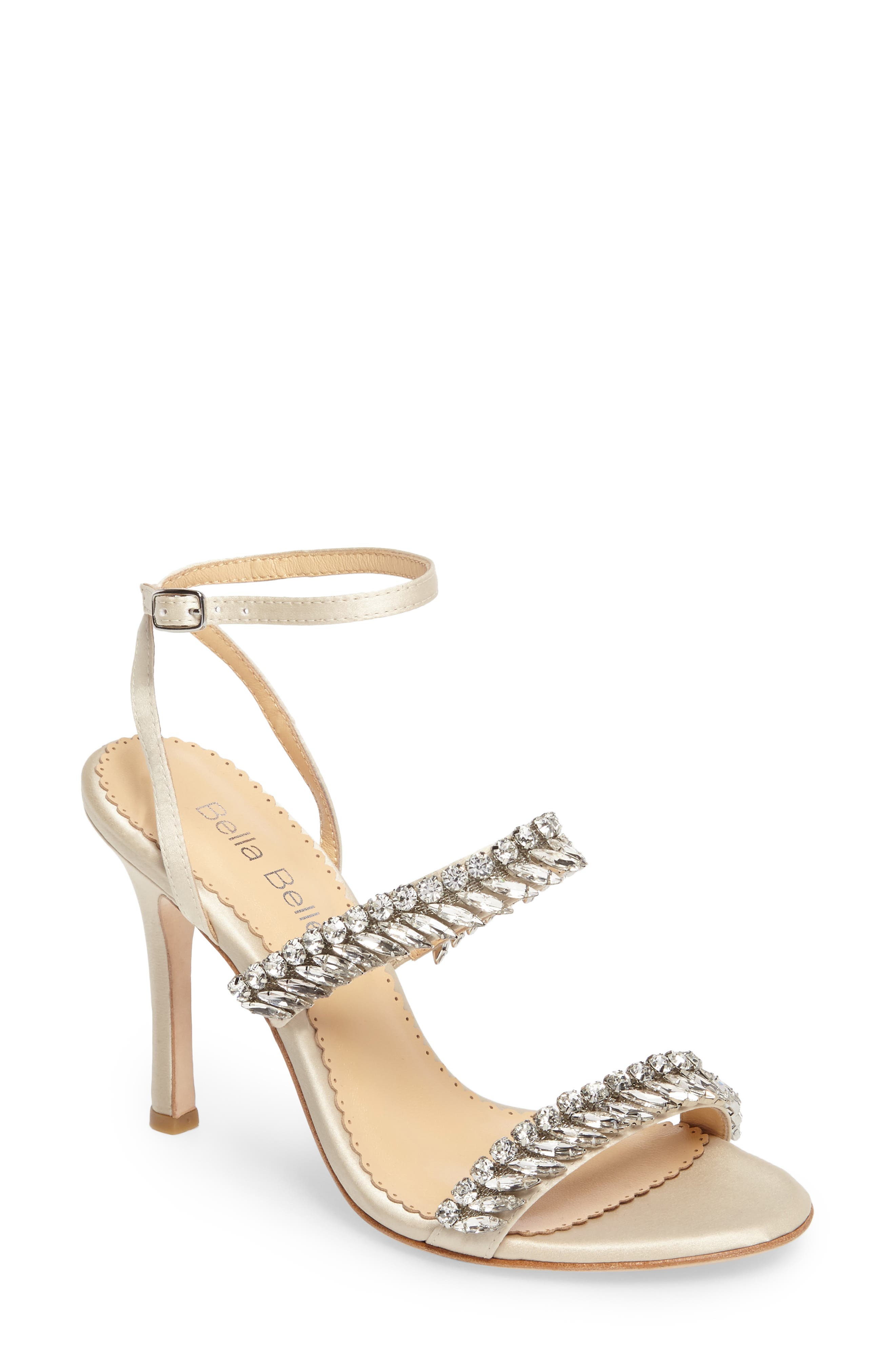 Belinda Embellished Sandal,                         Main,                         color, Champagne