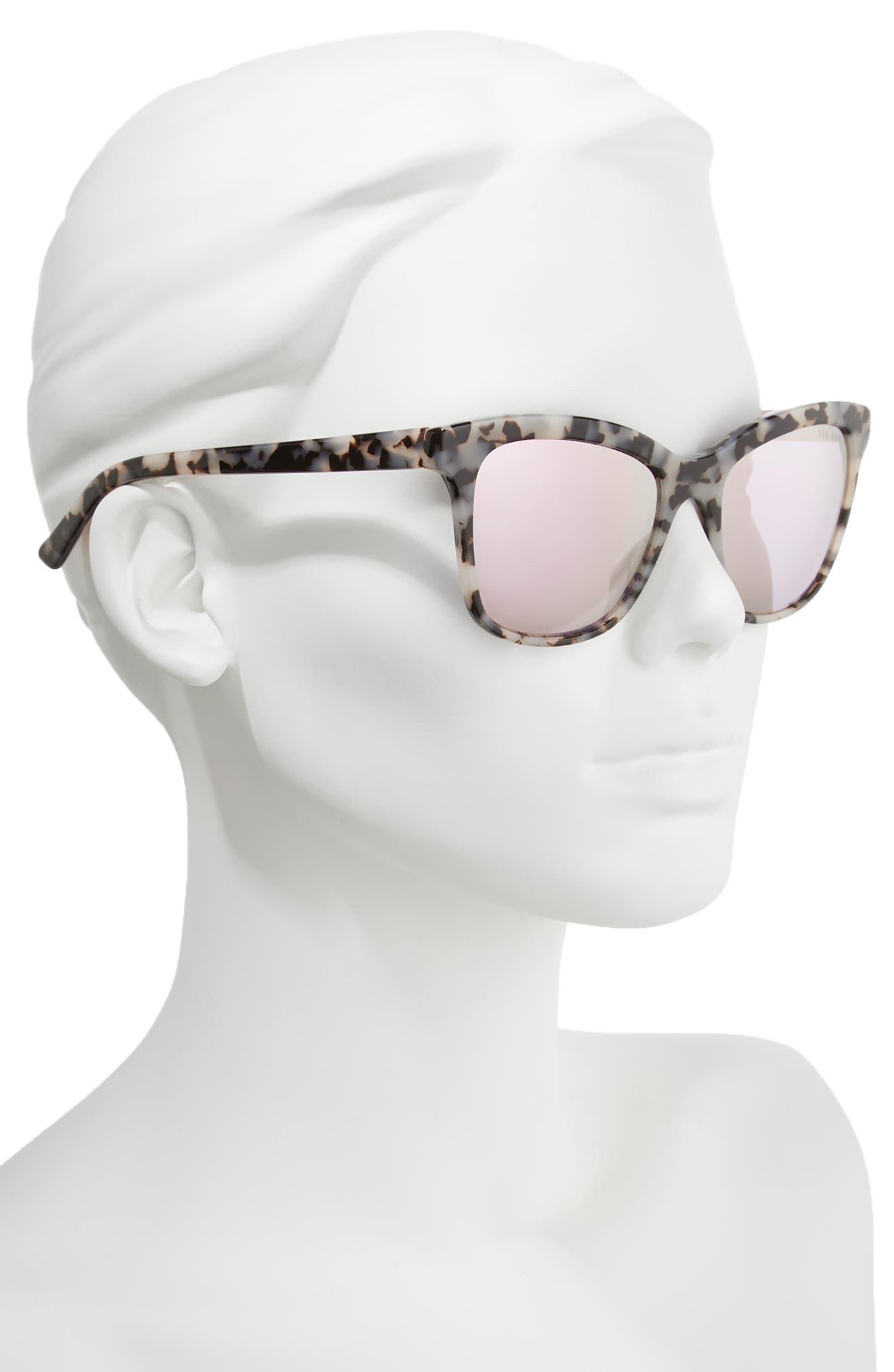 Alternate Image 2  - Ted Baker London 55mm Cat Eye Sunglasses