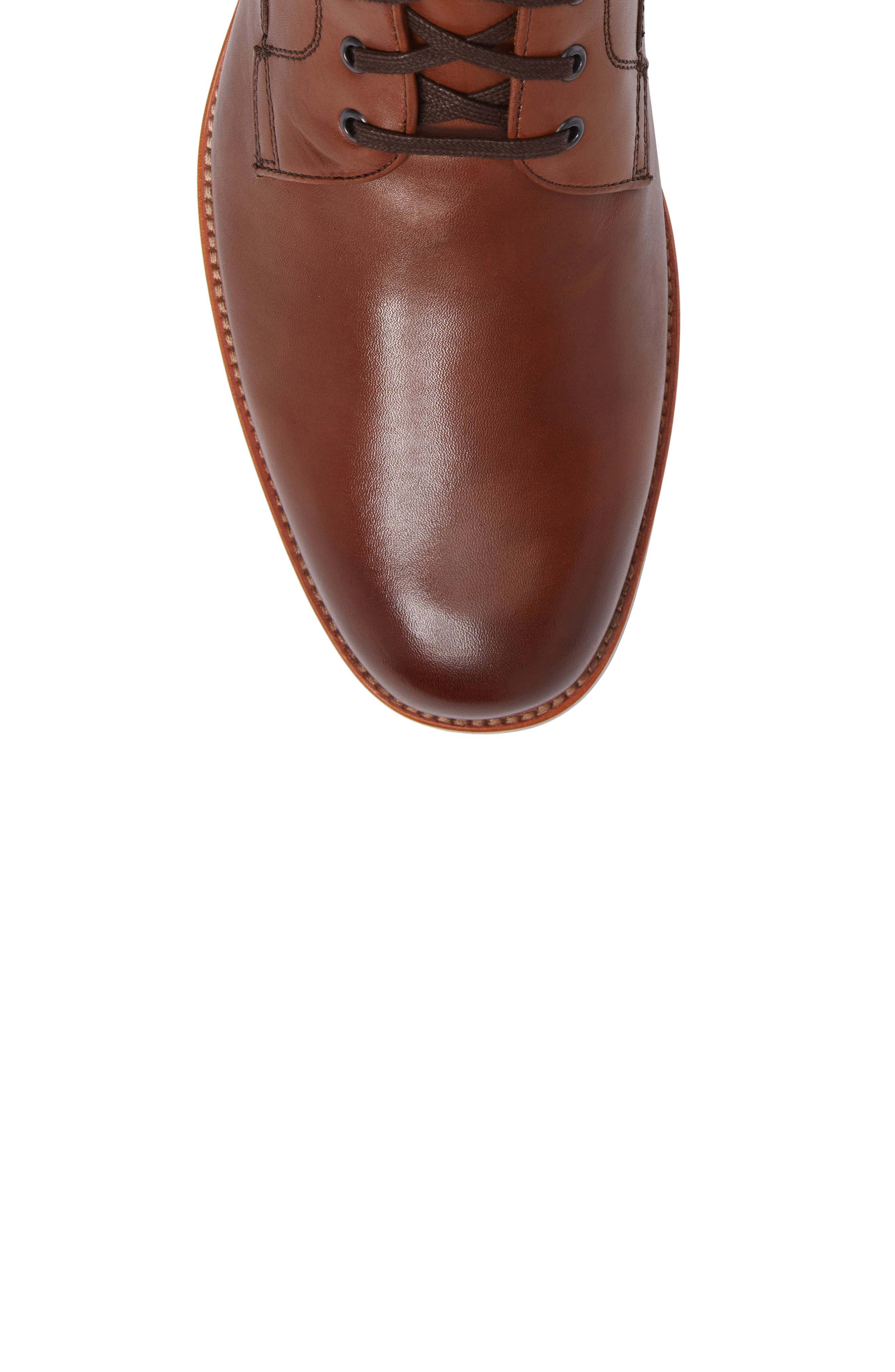 Axeford Plain Toe Boot,                             Alternate thumbnail 5, color,                             Luggage Leather