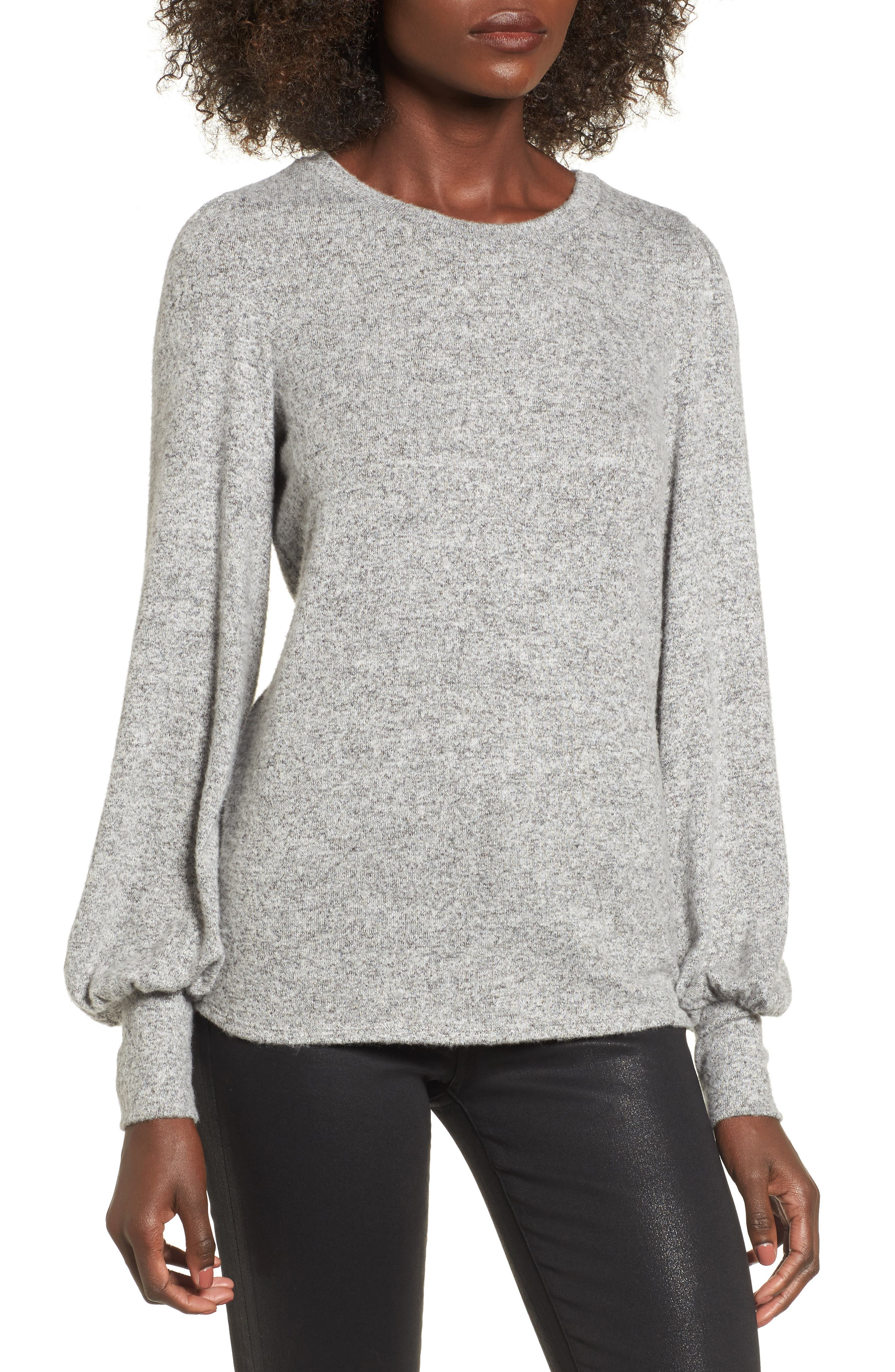 Alternate Image 1 Selected - Soprano Bell Sleeve Pullover