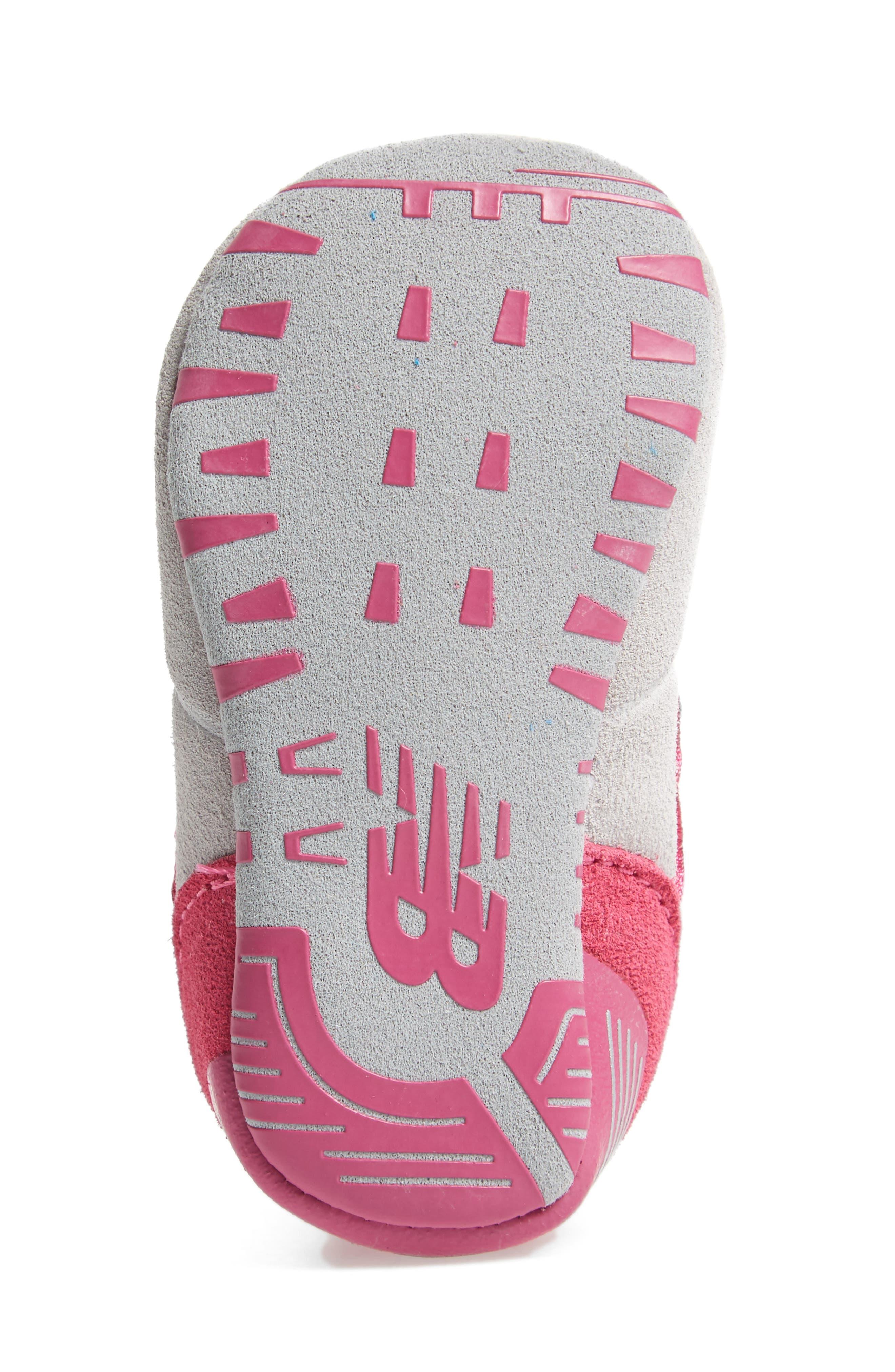 574 Crib Shoe,                             Alternate thumbnail 6, color,                             Pink/ Grey