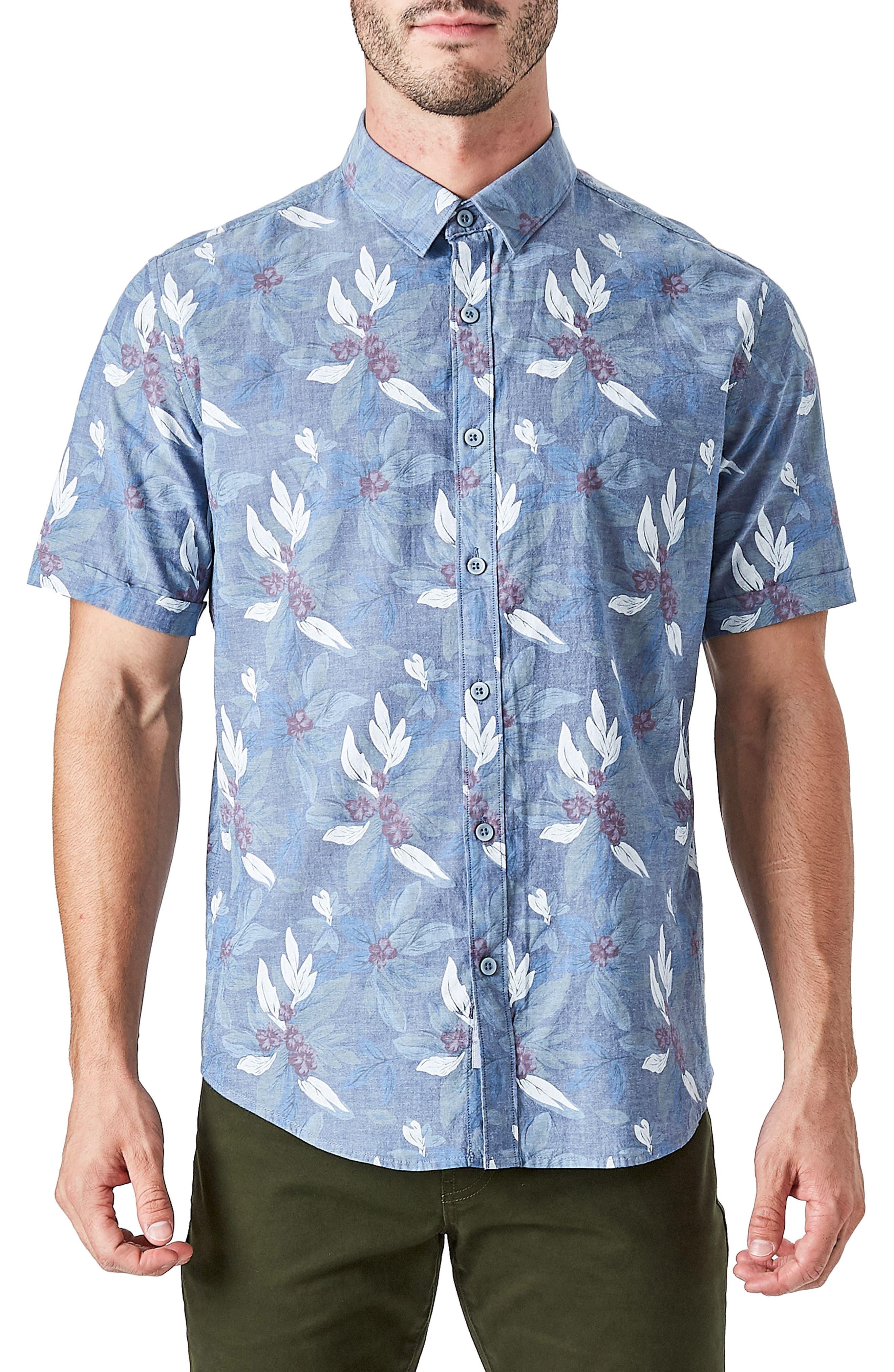 Woven Sport Shirt,                         Main,                         color, Slate Blue