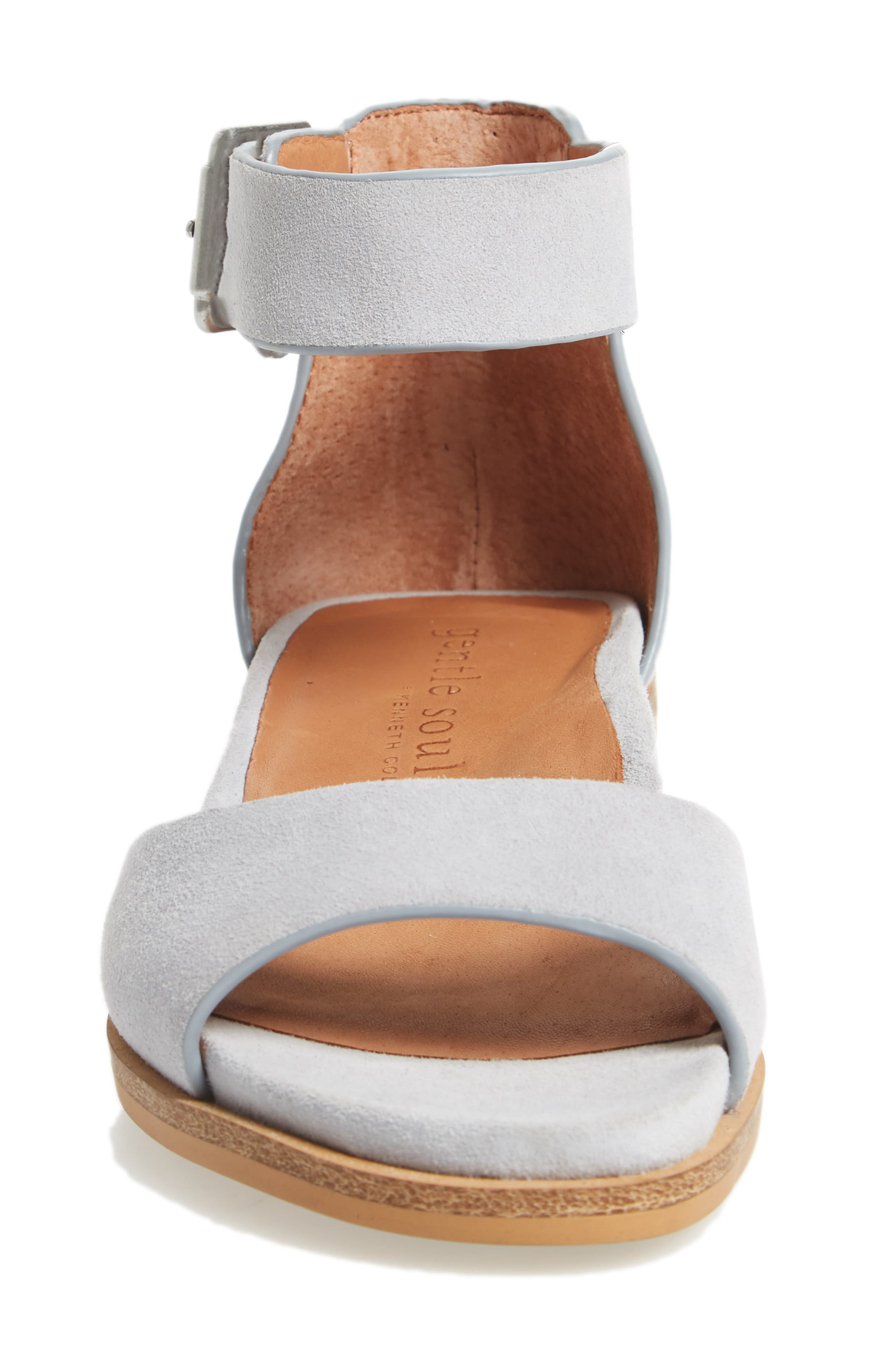 by Kenneth Cole Gracey Sandal,                             Alternate thumbnail 4, color,                             Winter Blue Suede