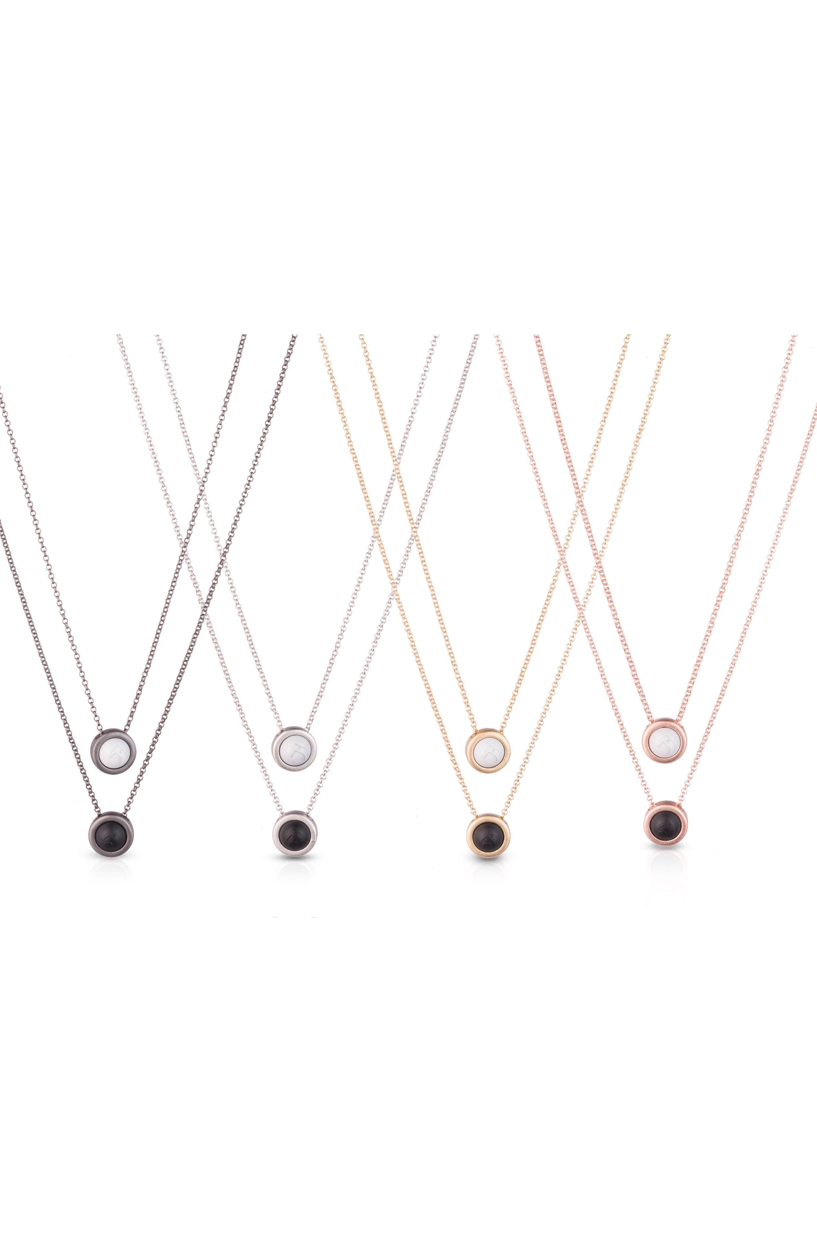 Double Fine Chain Pendant Necklace,                             Alternate thumbnail 4, color,                             Gold