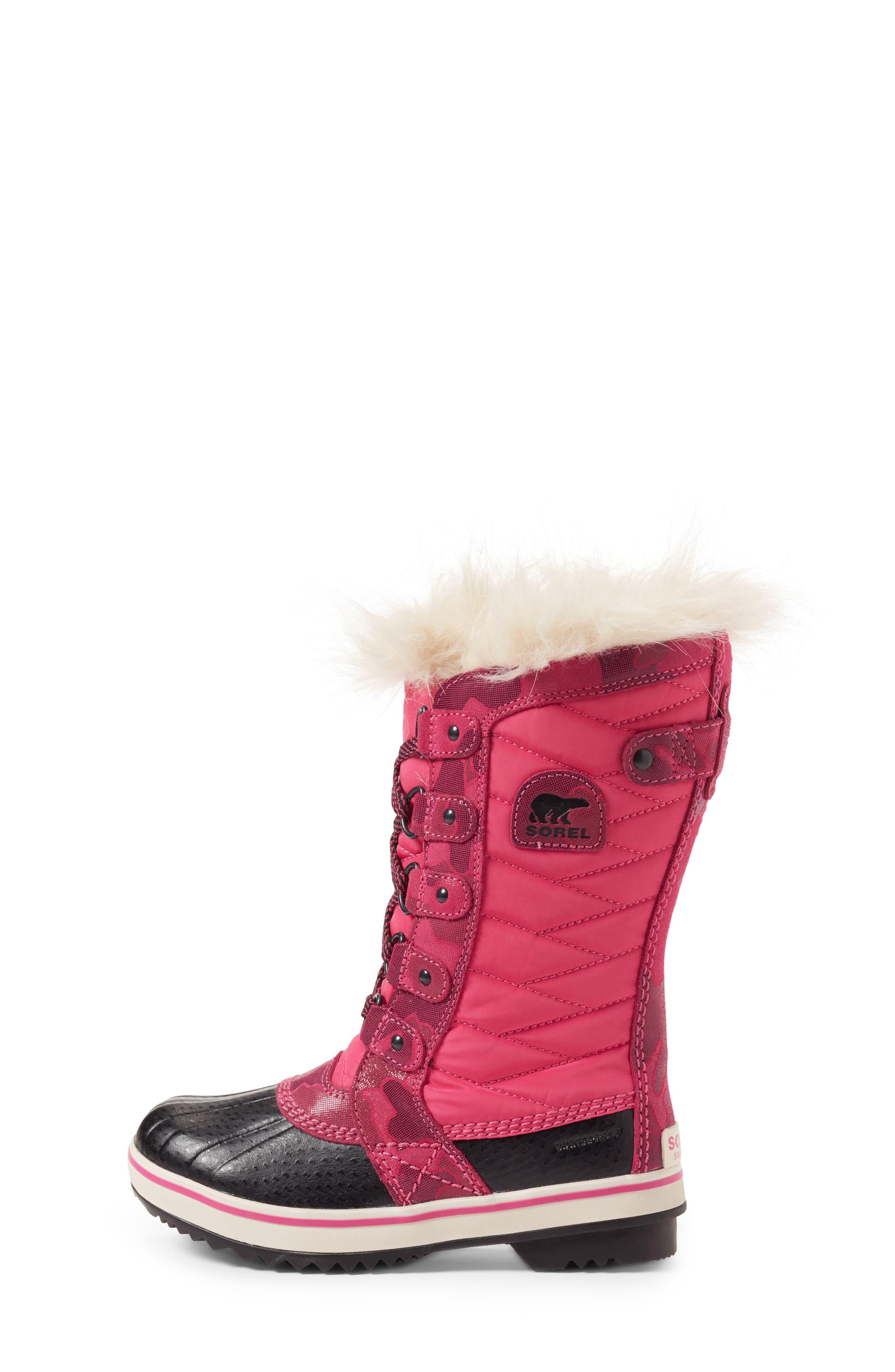 Alternate Image 3  - SOREL Tofino II Faux Fur Lined Waterproof Boot (Little Kid & Big Kid)