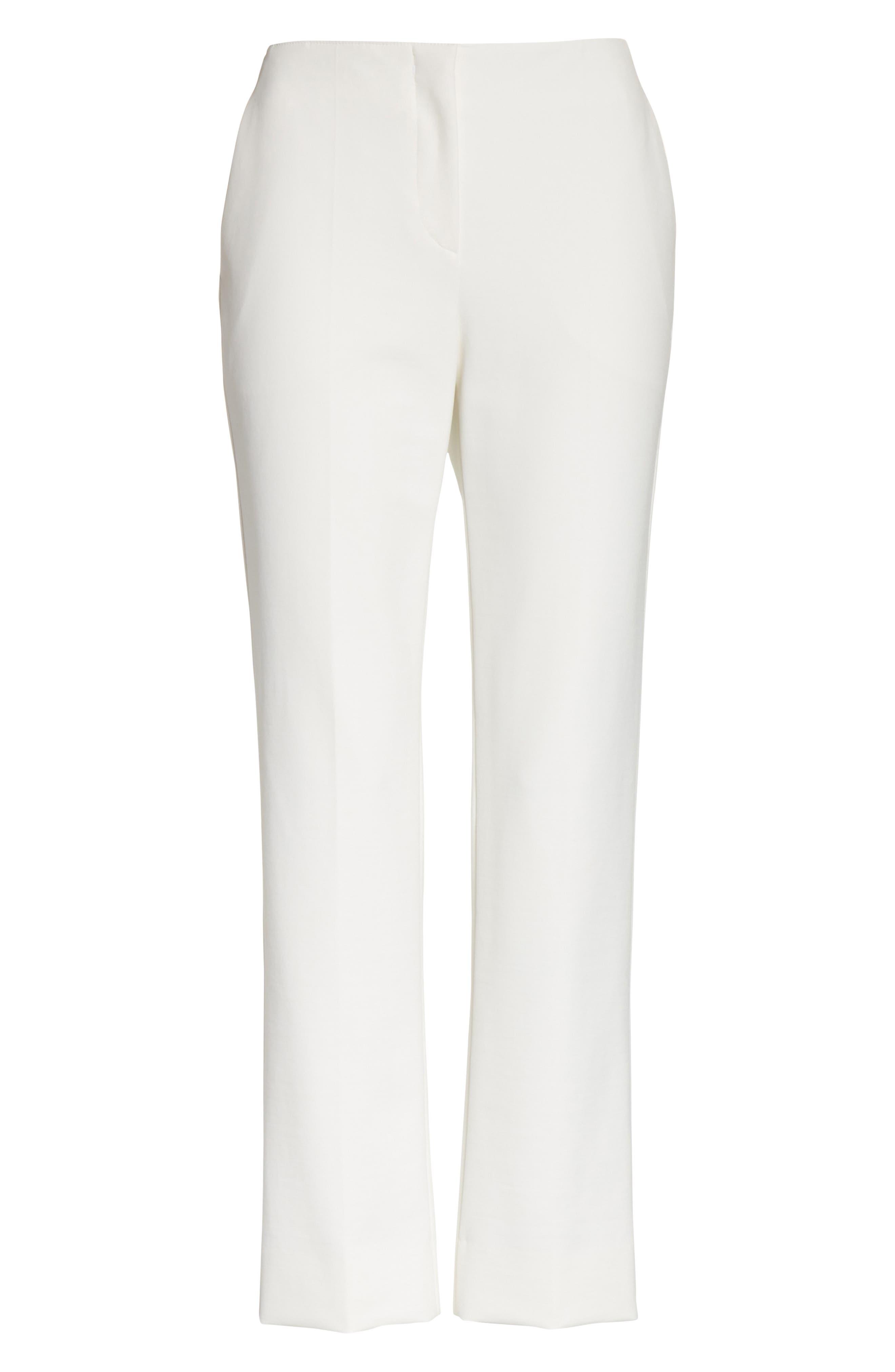 Tech Cotton Blend Pants,                             Alternate thumbnail 6, color,                             Warm White