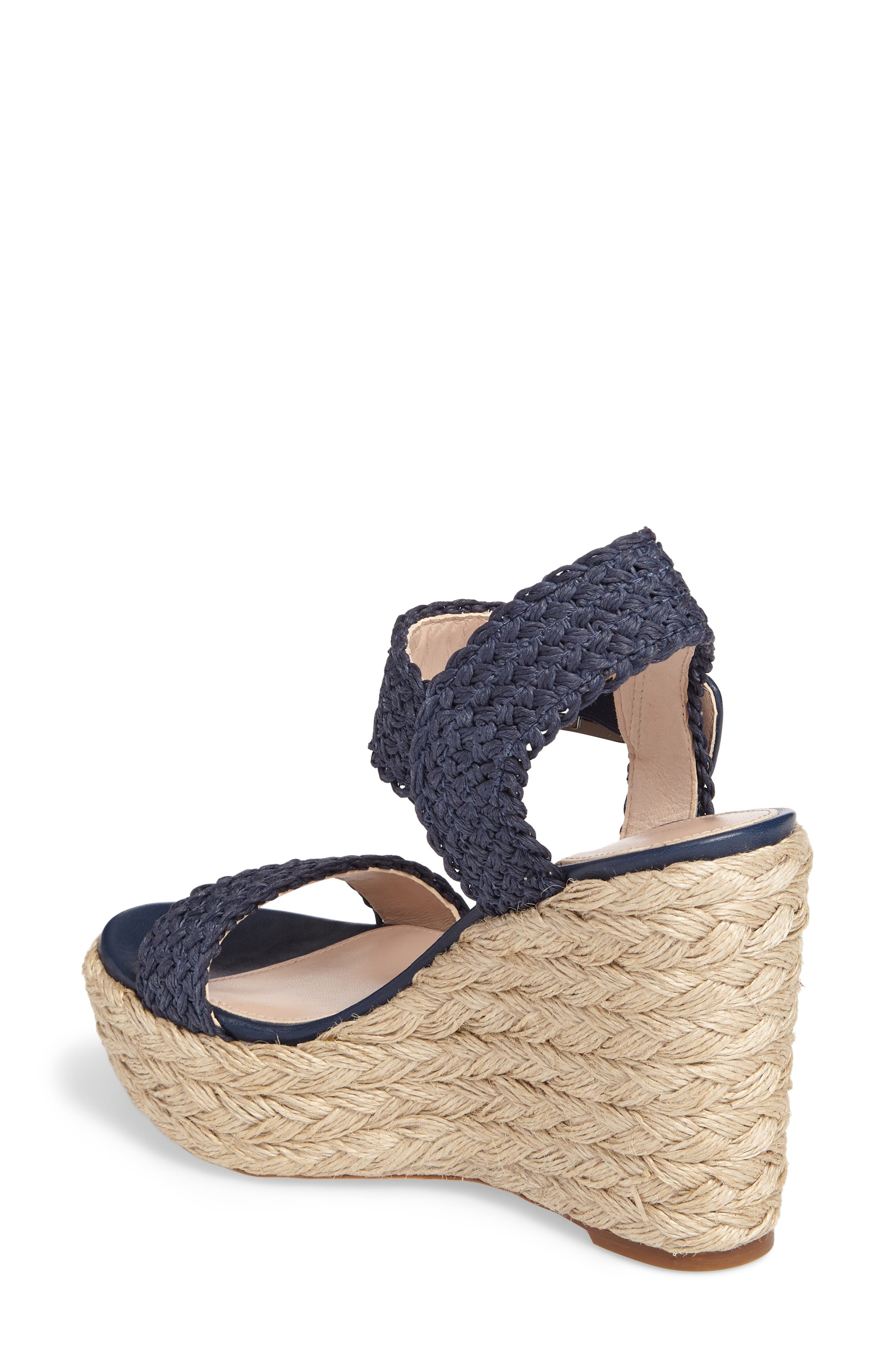 Alexis Espadrille Platform Wedge,                             Alternate thumbnail 2, color,                             Nice Blue Crochet