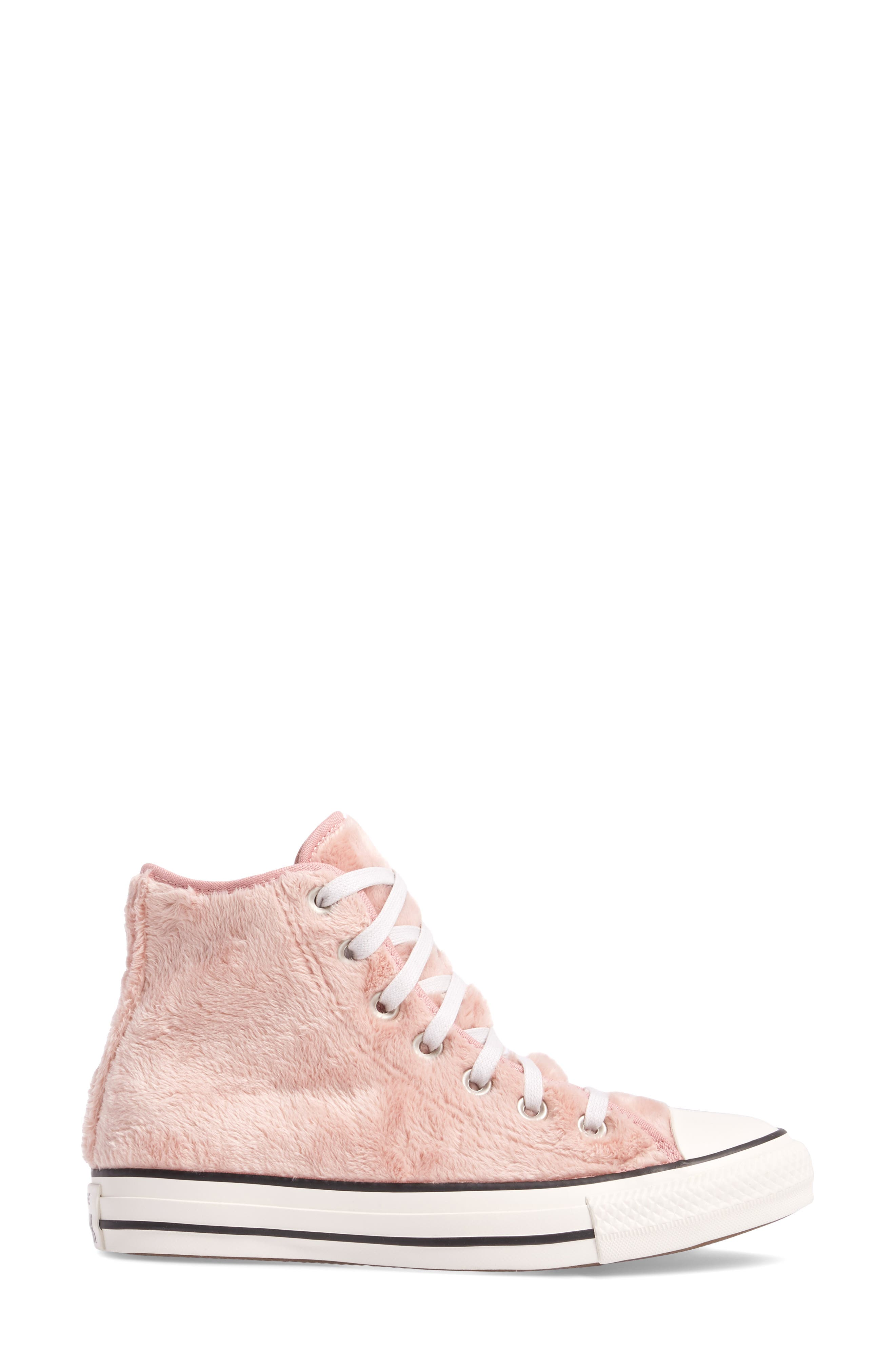 Alternate Image 3  - Converse Chuck Taylor® All Star® Faux Fur High Top Sneakers (Women)