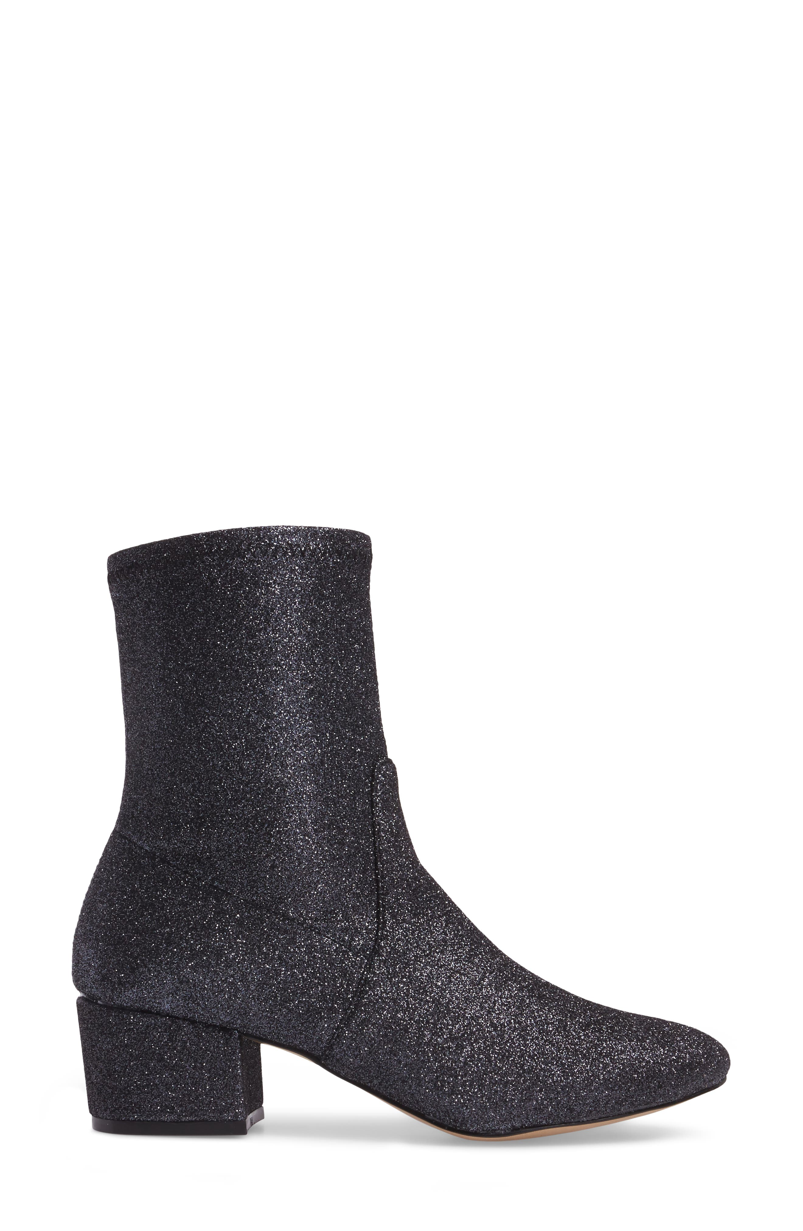 Gemma Bootie,                             Alternate thumbnail 3, color,                             Gunmetal Glitter