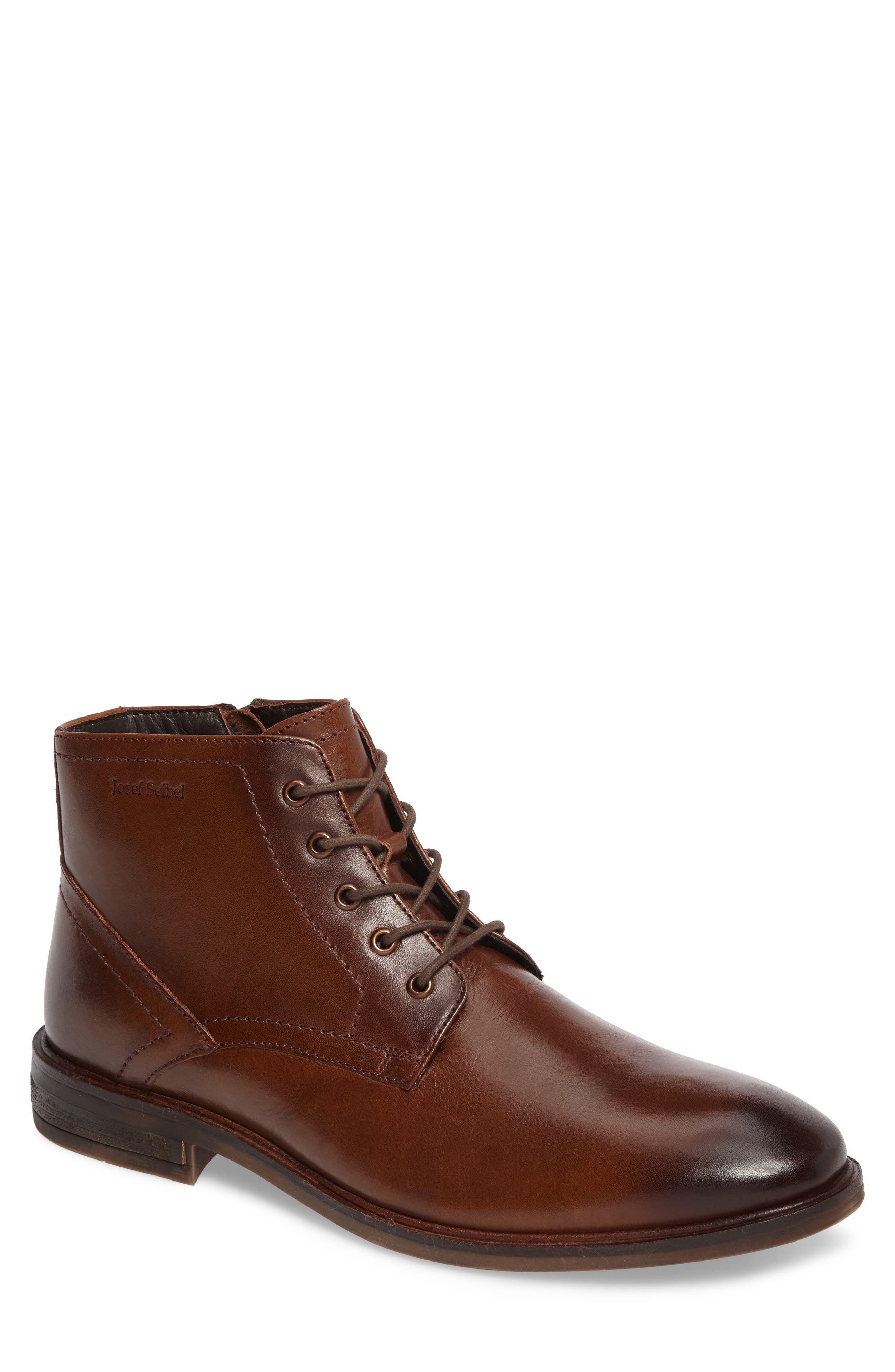 Josef Seibel Myles 11 Water Repellent Plain Toe Boot (Men)