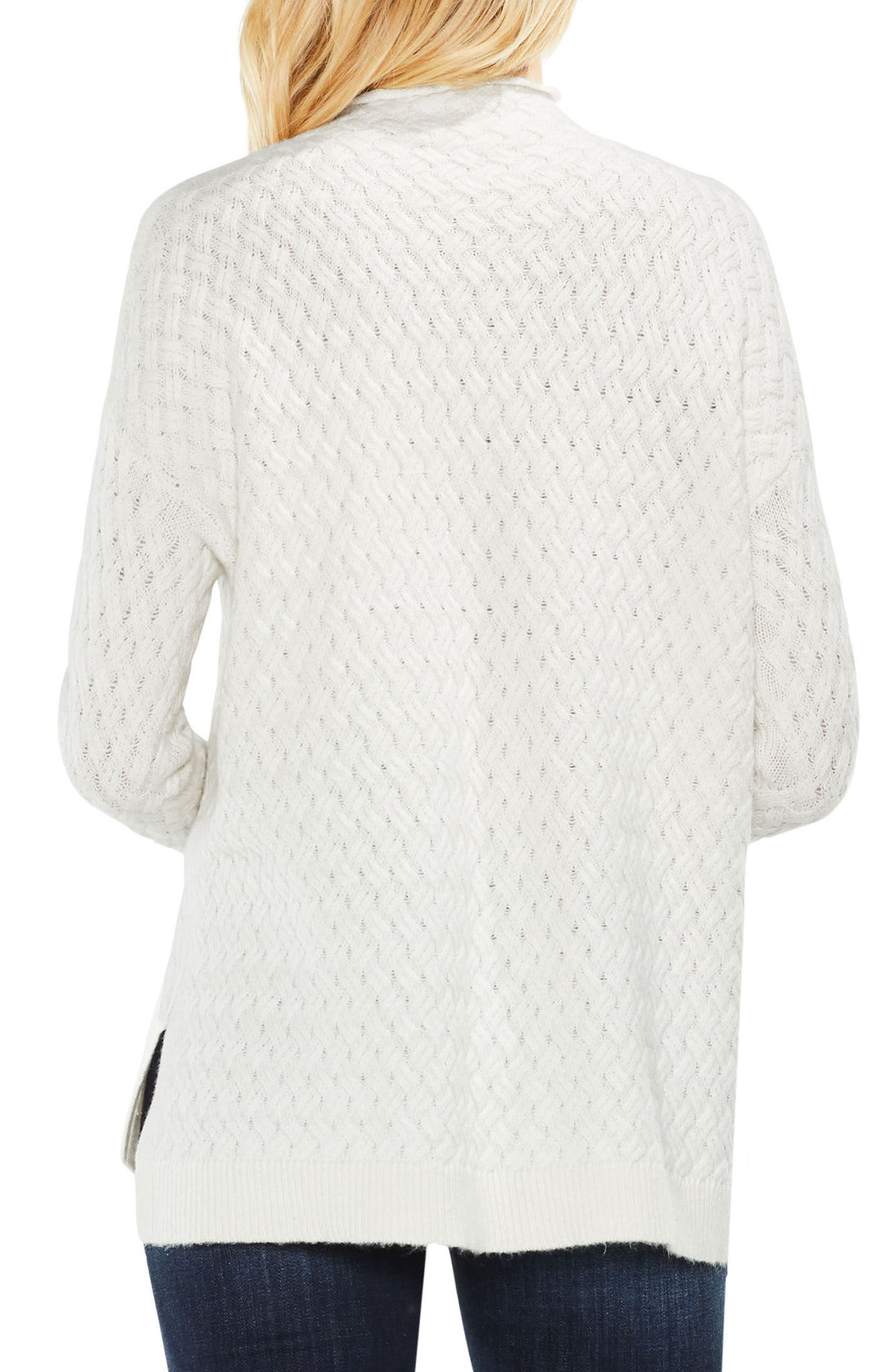 Alternate Image 2  - Two by Vince Camuto Cable Mock Neck Sweater (Regular & Petite)