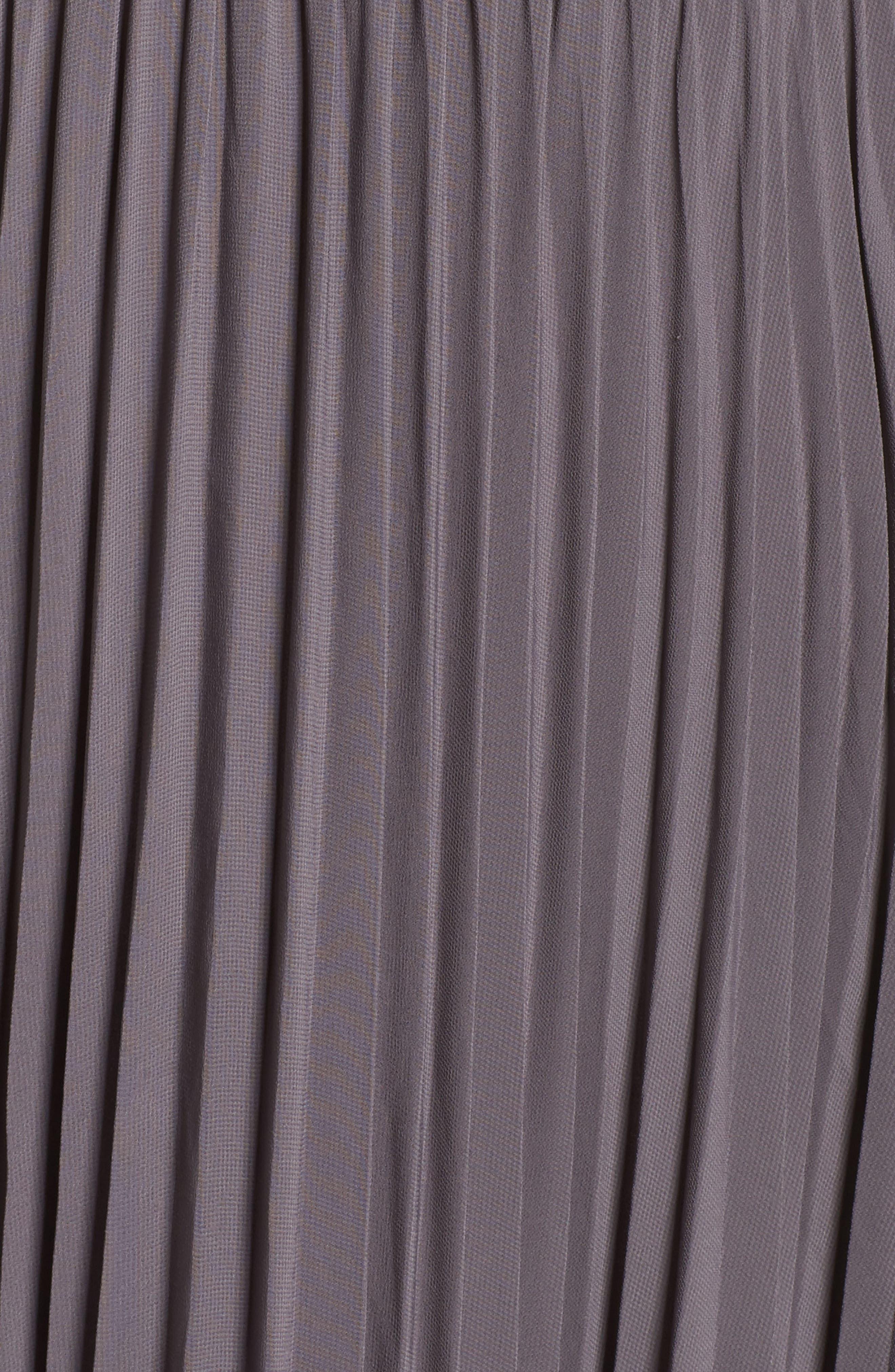 She Is A Regular Pleated Maxi Dress,                             Alternate thumbnail 5, color,                             Slate